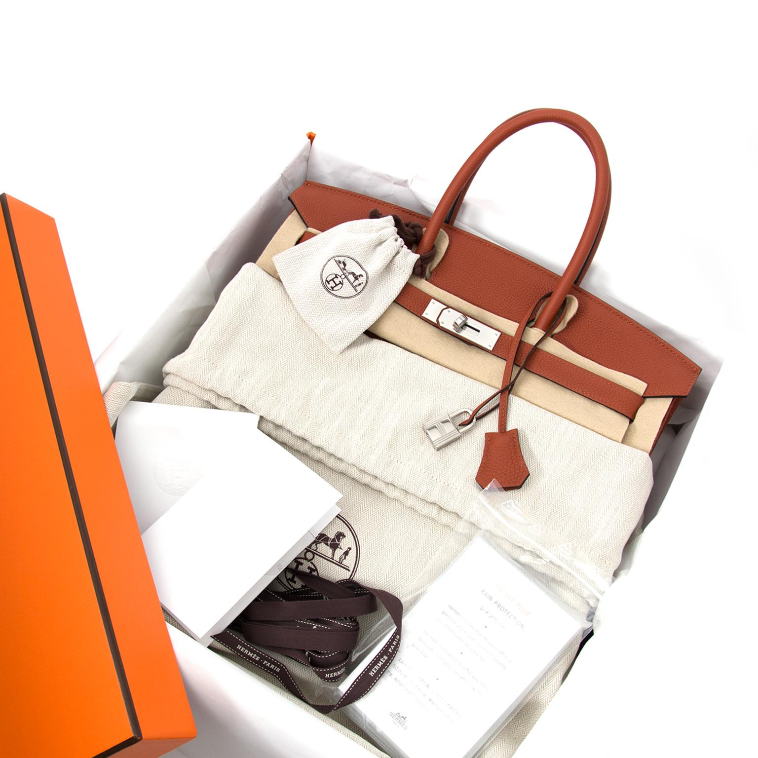 koop veilig online bij labellov.com hermes birkin 35 togo cuivre phw nu te koop. 100% authentiek