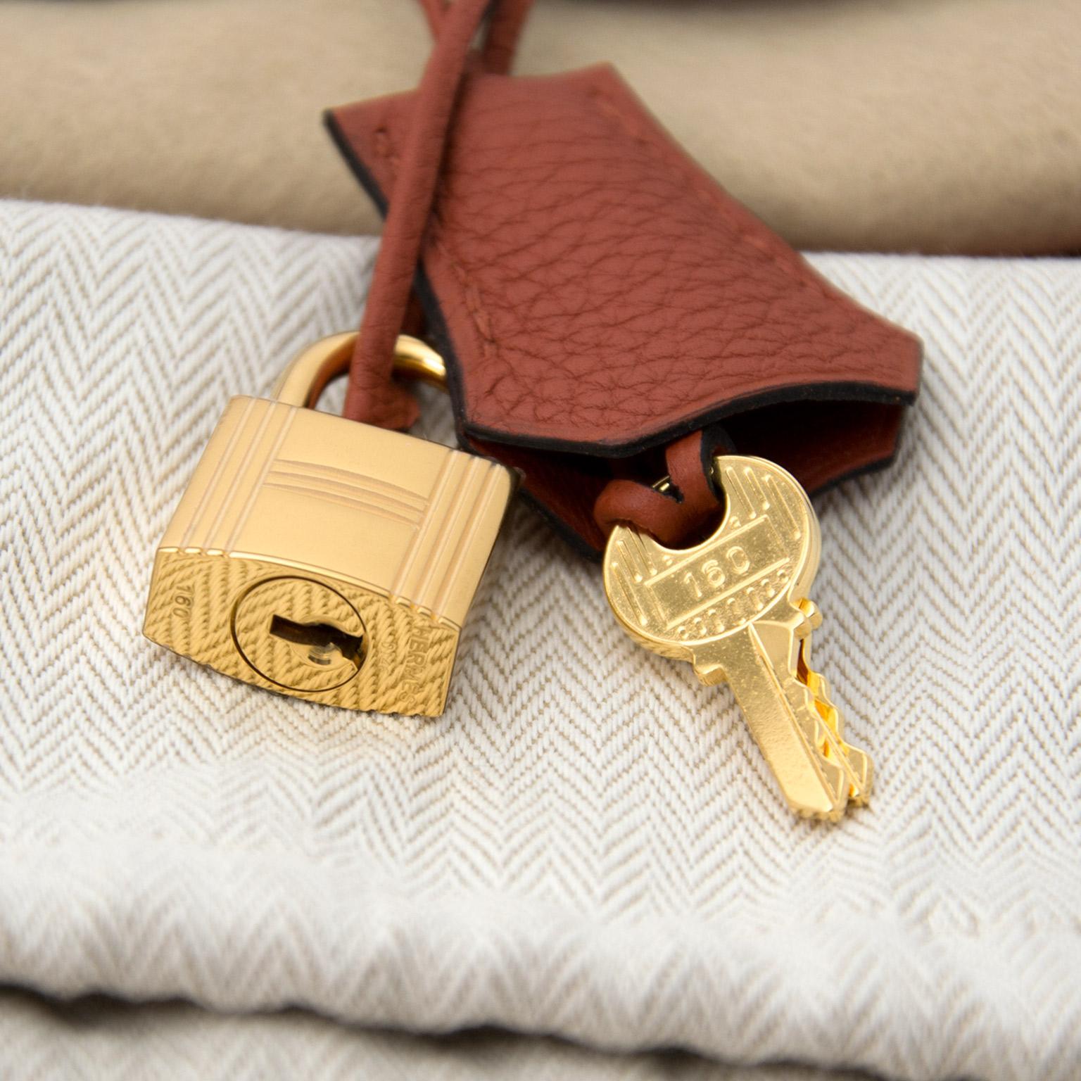 cfbcca5ef8 Safe and secure online Vintage Hermès Birkin cuivre bags for the best price  at Labellov webshop. Safe and secure