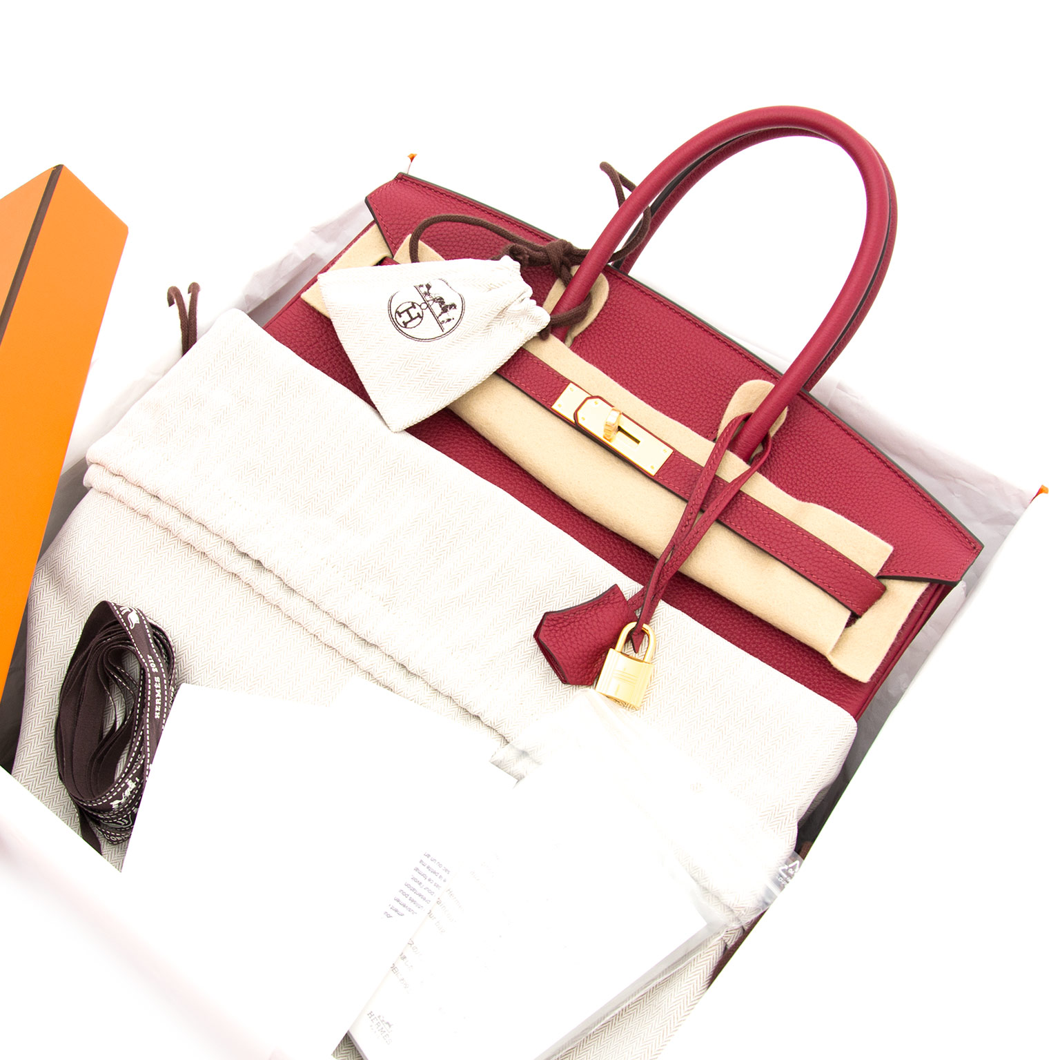 Brand new hermes birkin rouge grenat 35 togo now online at labellov.com for the best price