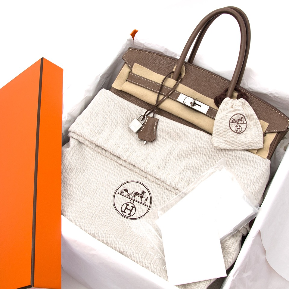 We buy and sell your Hermès Birkin 35 Etoupe Togo for the best price