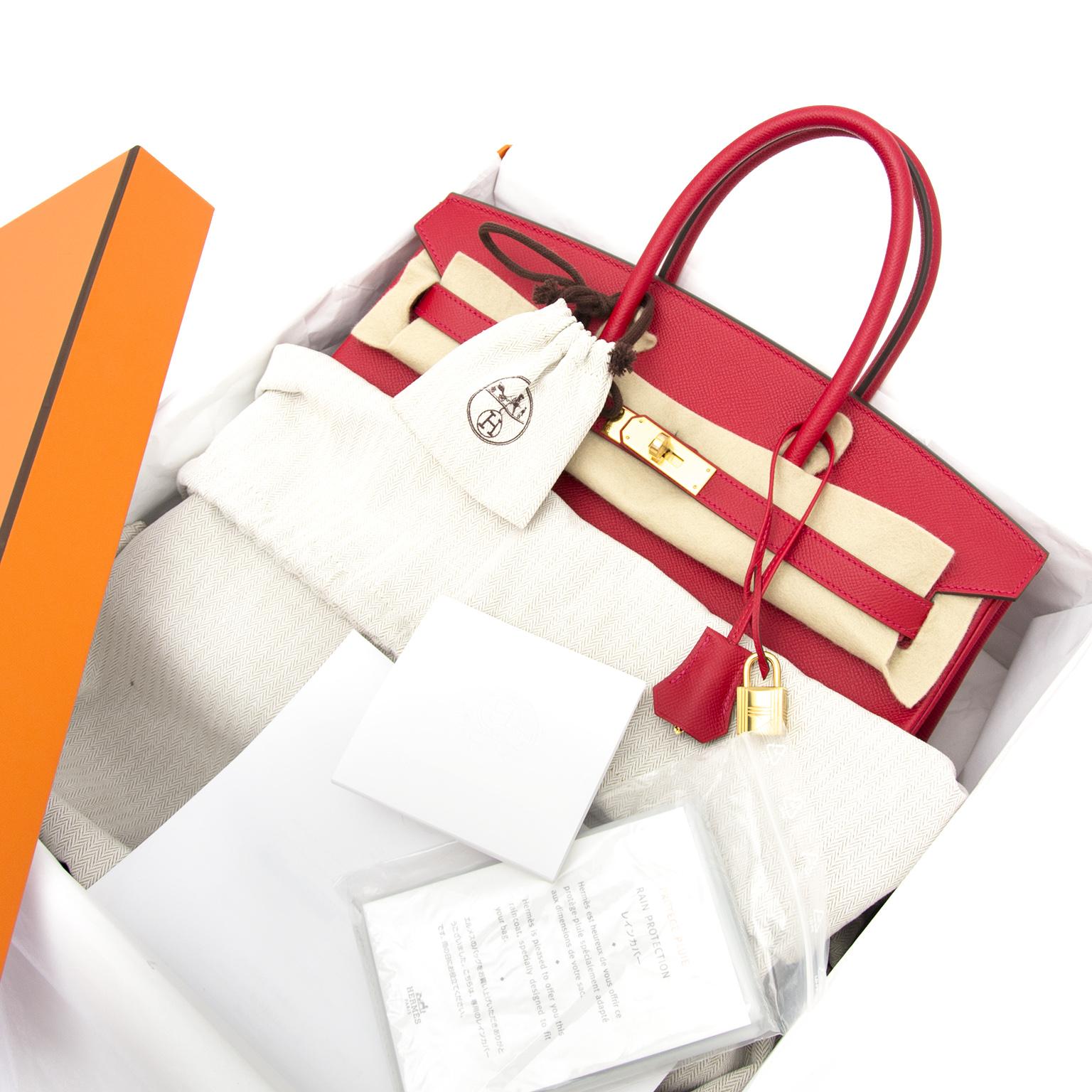 Hermès Birkin 35 rouge casaque epsom ghw nu online bij labellov.com zonder wachtlijst.