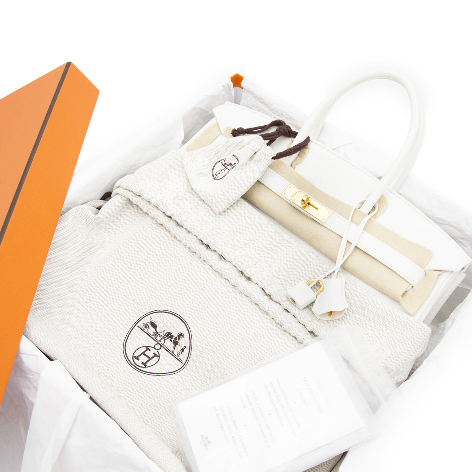 skip the waitinglist and get your hermes birkin 35 white clemence taurillon ghw right now at labellov.com
