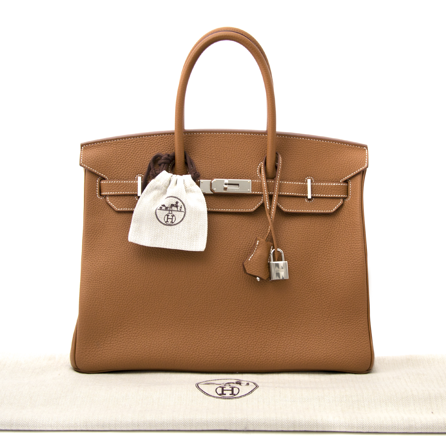 ... shop your secondhand as new invoice included As New Hermes Birkin 35  Veau Togo Gold PHW e7d2f6bbab