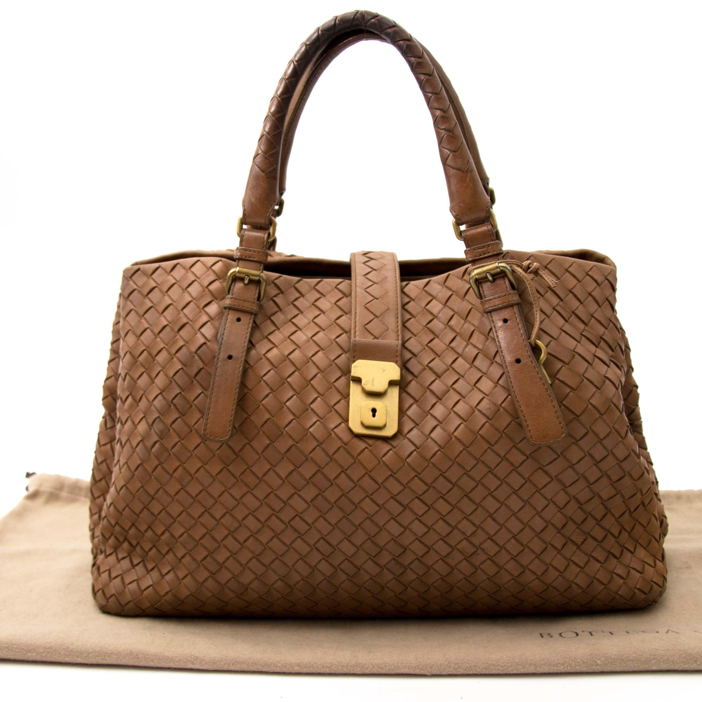 acheter en ligne pour le meilleur prix sac a mainBottega Veneta Intrecciato Brown Tote Bag