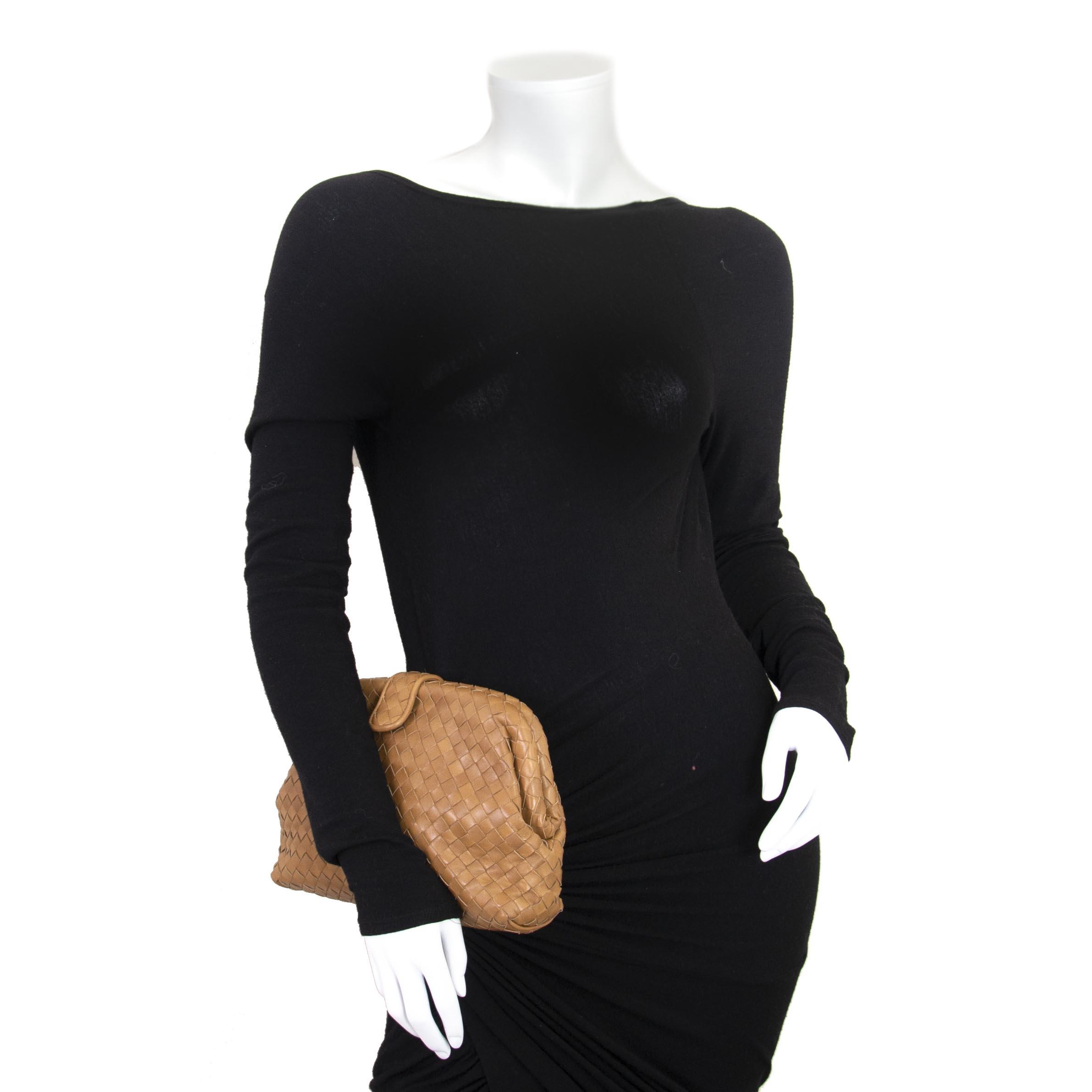 Bottega Veneta Brown Leather Pouch now for sale at labellov vintage fashion webshop belgium