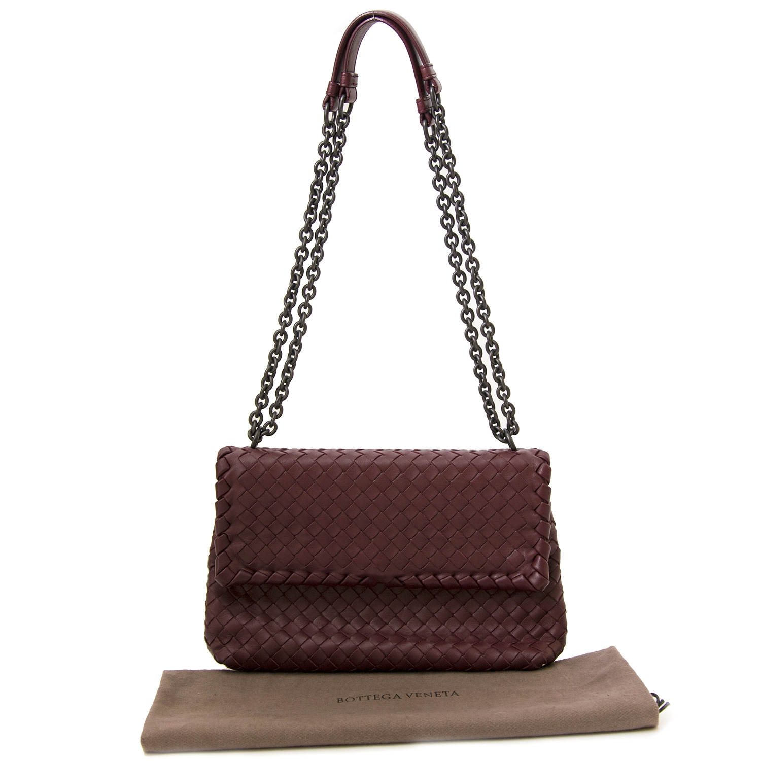 Bottega Veneta Bordeaux Intrecciato Leather Bag koop online tgen de beste  prijs jou tweedehands Bottega Veneta Bordeaux Intrecciato Leather Bag fe8f8bfc858c2