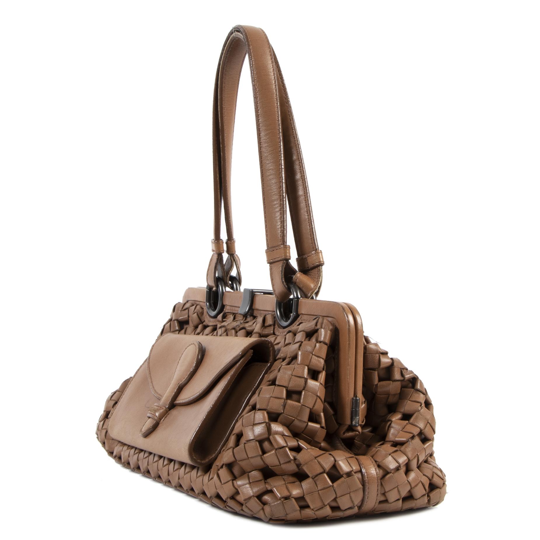 Bottega Veneta Brown Woven Shoulder Bag
