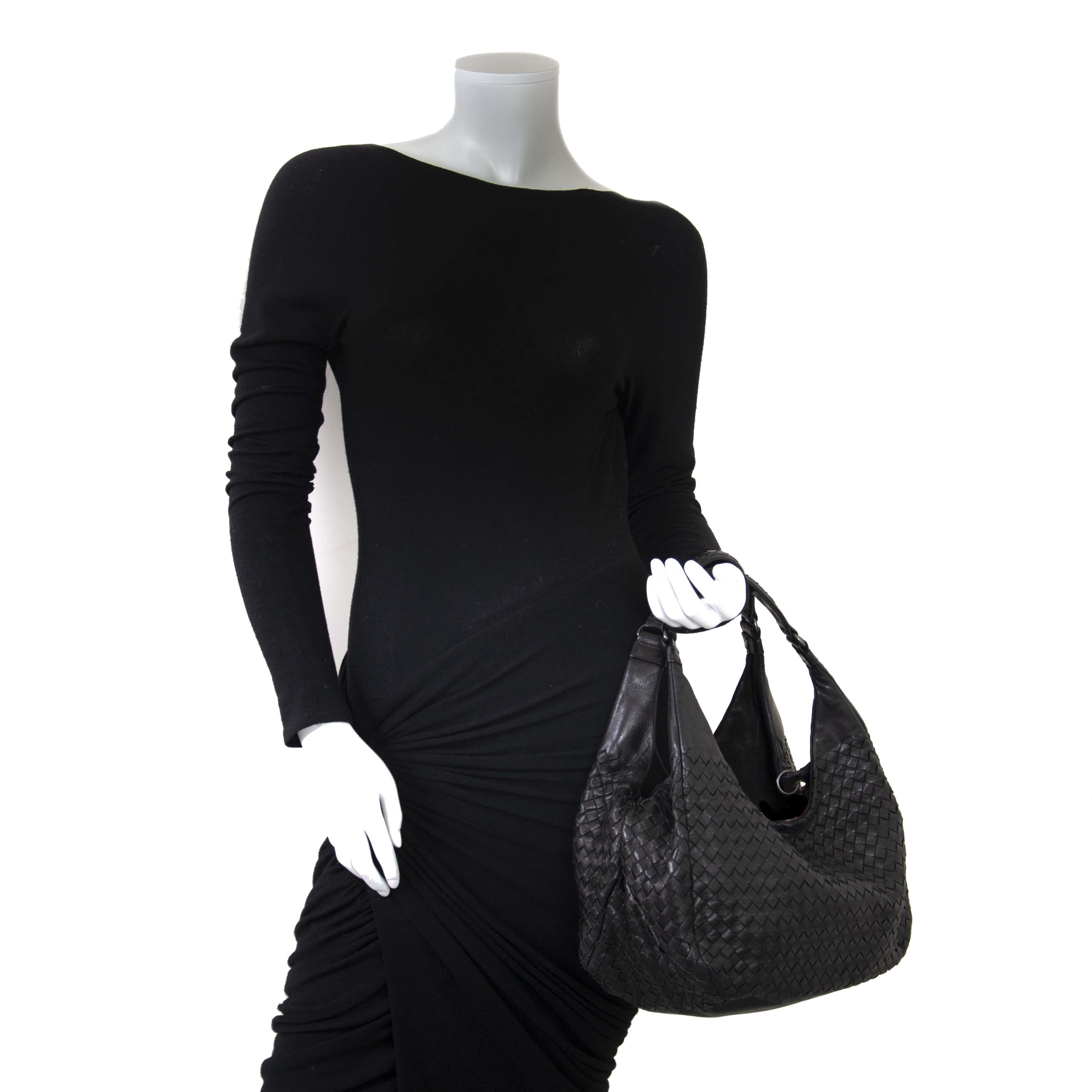 b984d5d1b2 ... Bottega Veneta Black Intrecciato Nappa Shoulder Bag now for sale at labellov  vintage fashion webshop belgium