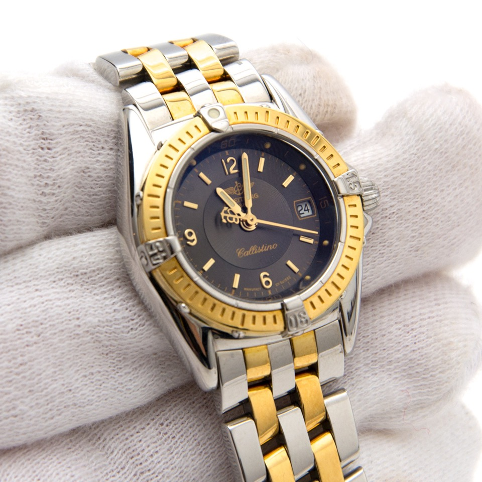 Secondhand Breitling Lady Callistino Full Steel/Gold Anthracite Dial for sale online