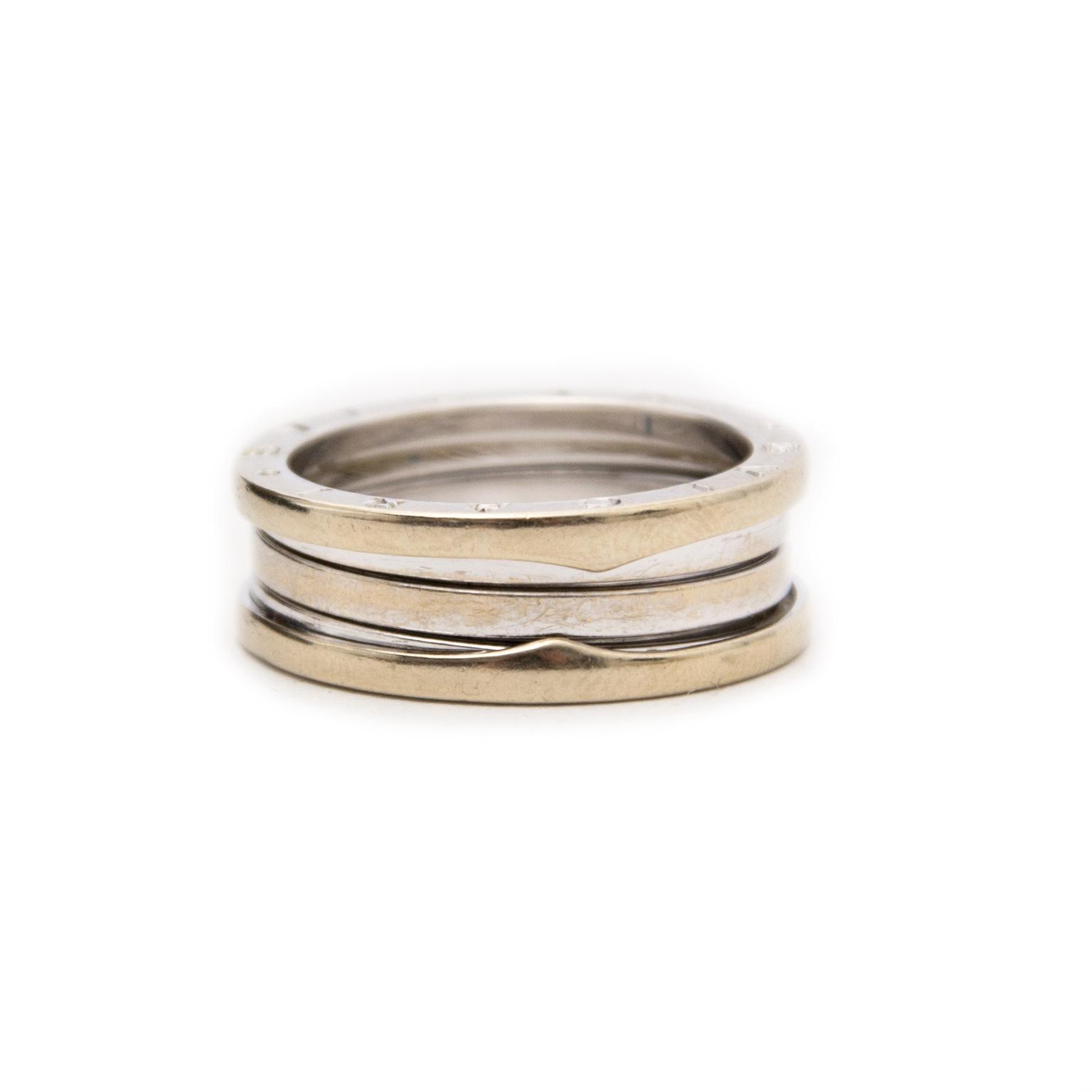 Heute können Sie diese Bulgari Weissgoldgelbe B. Zero 1 2-Band Ring - Mass 62 auf labellov.com ankaufen.
