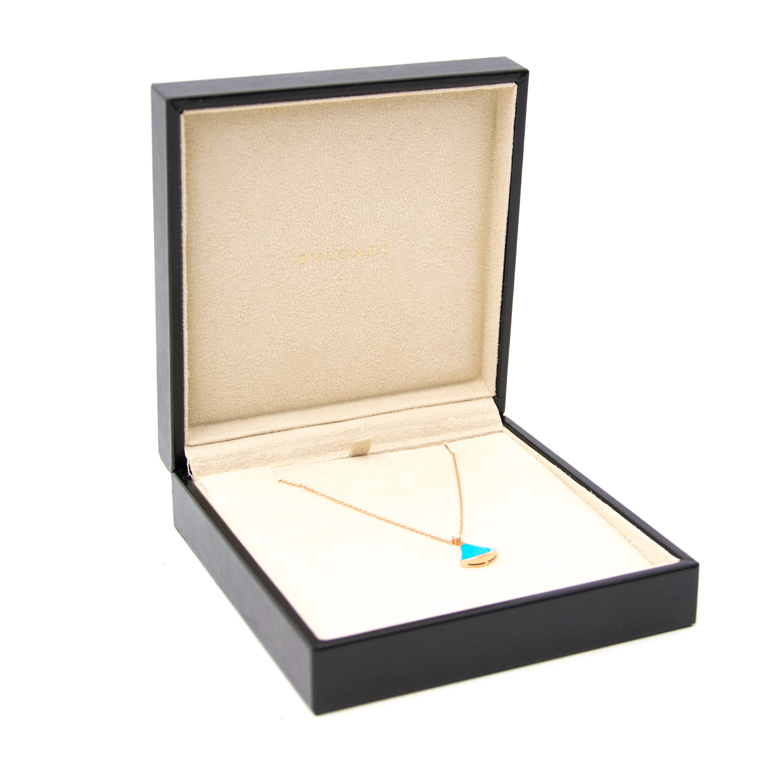 Bulgari Diva Pink Gold Turquoise Necklace With Diamond for the best price available online