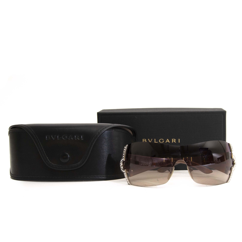 f13917808b ... Acheter en ligne chez labellov.com Bulgari Brown Rimless Shield  lunettes de soleil