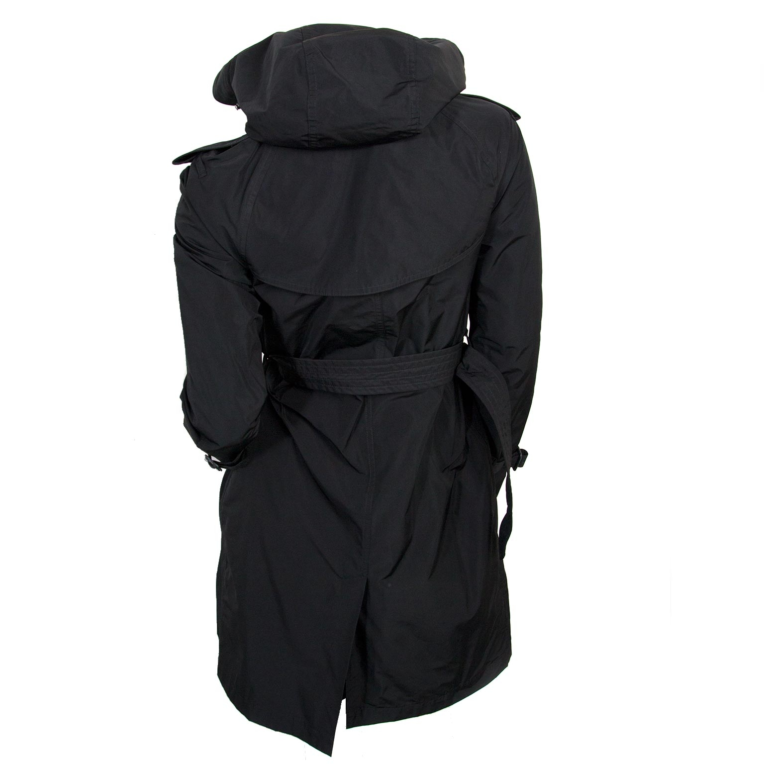 Burberry Black Trench Coat for sale online at Labellov