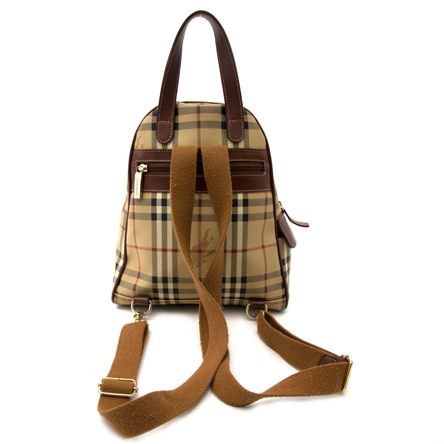 acheter en ligne seconde main Burberry Beige Vintage Backpack