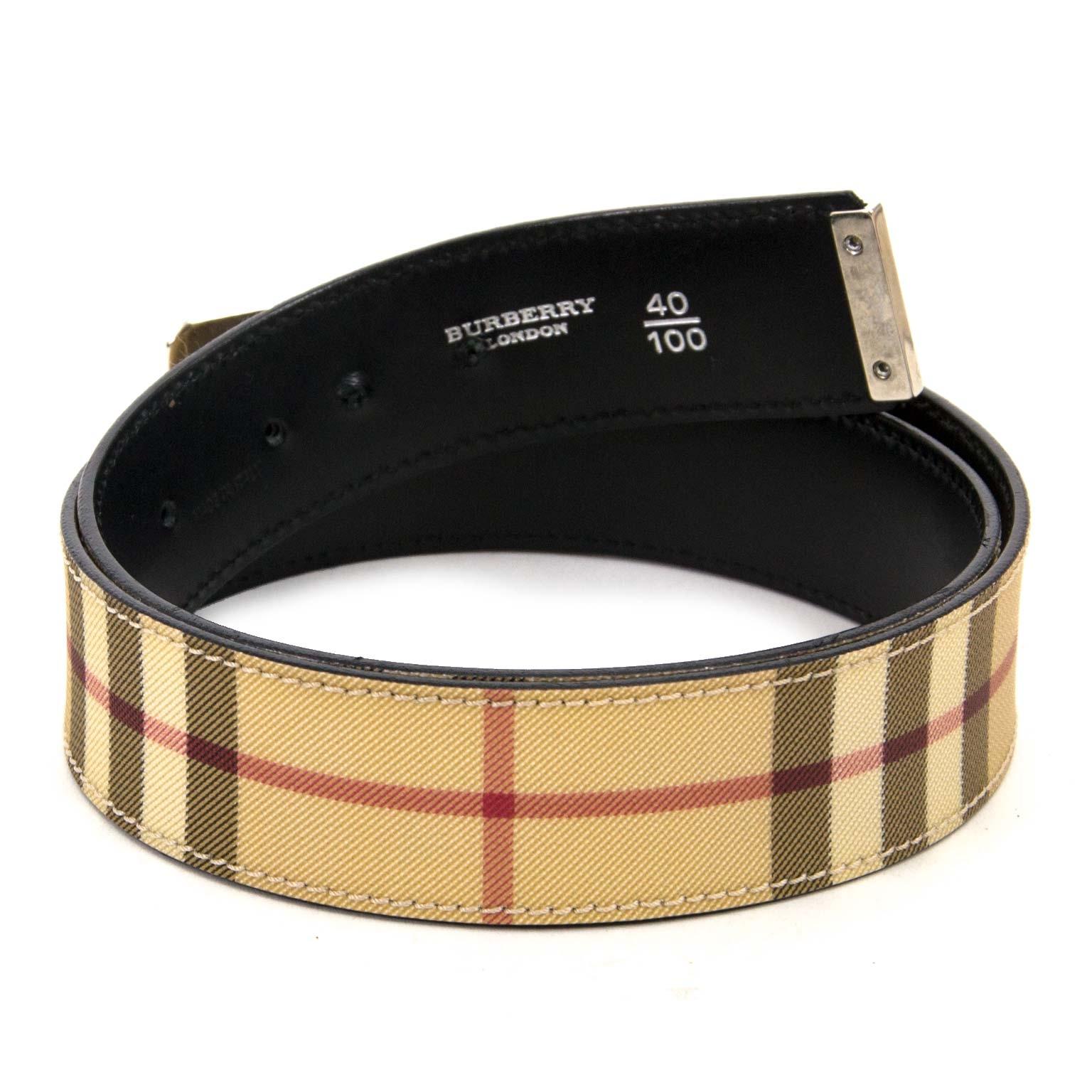 burberry beige monogram belt now for sale at labellov vintage fashion webshop belgium