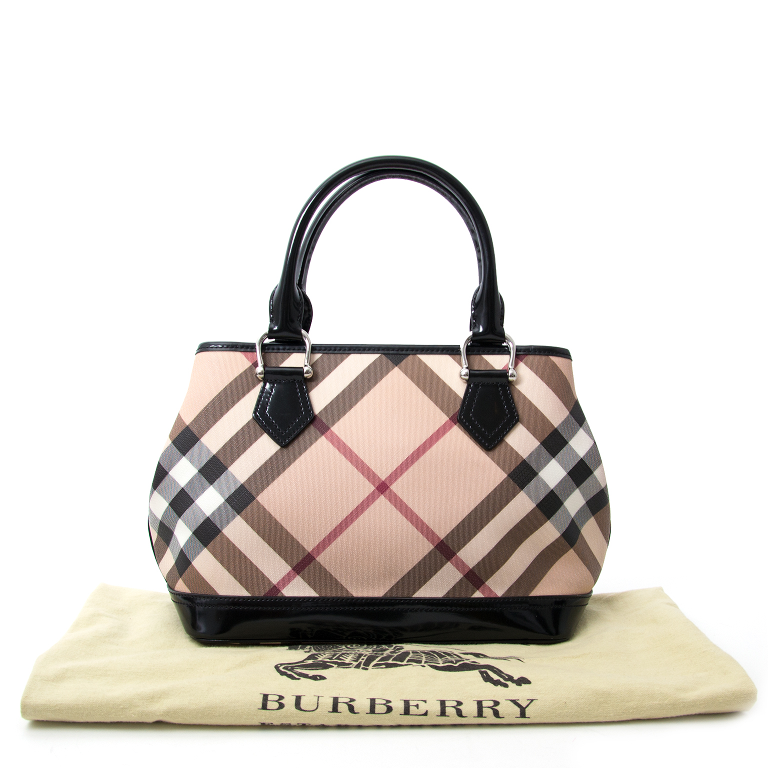 022a7b972f Labellov Burberry Nova Check Mini Tote Bag ○ Buy and Sell Authentic ...