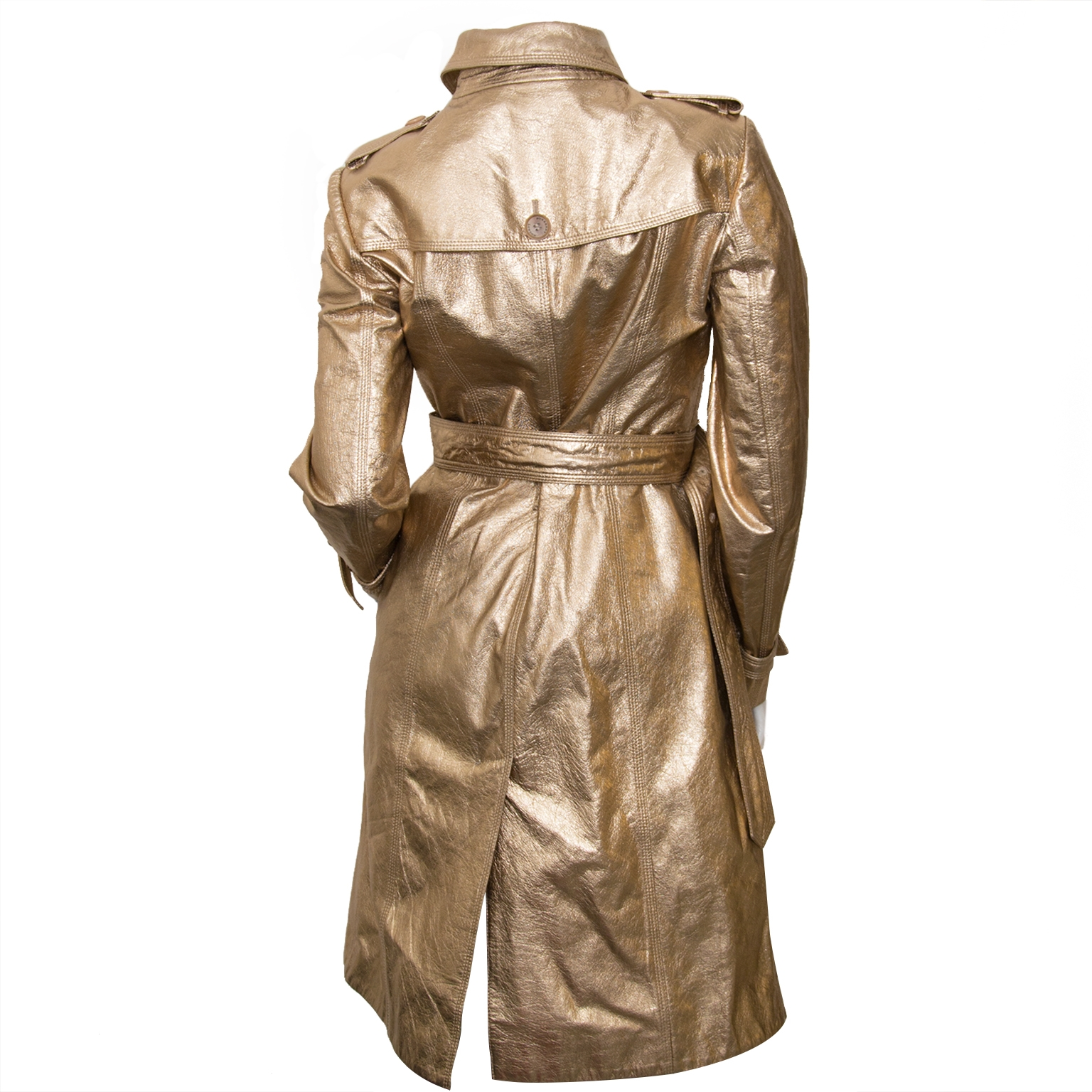 burberry metallic trench coat now for sale at labellov vintage fashion webshop belgium