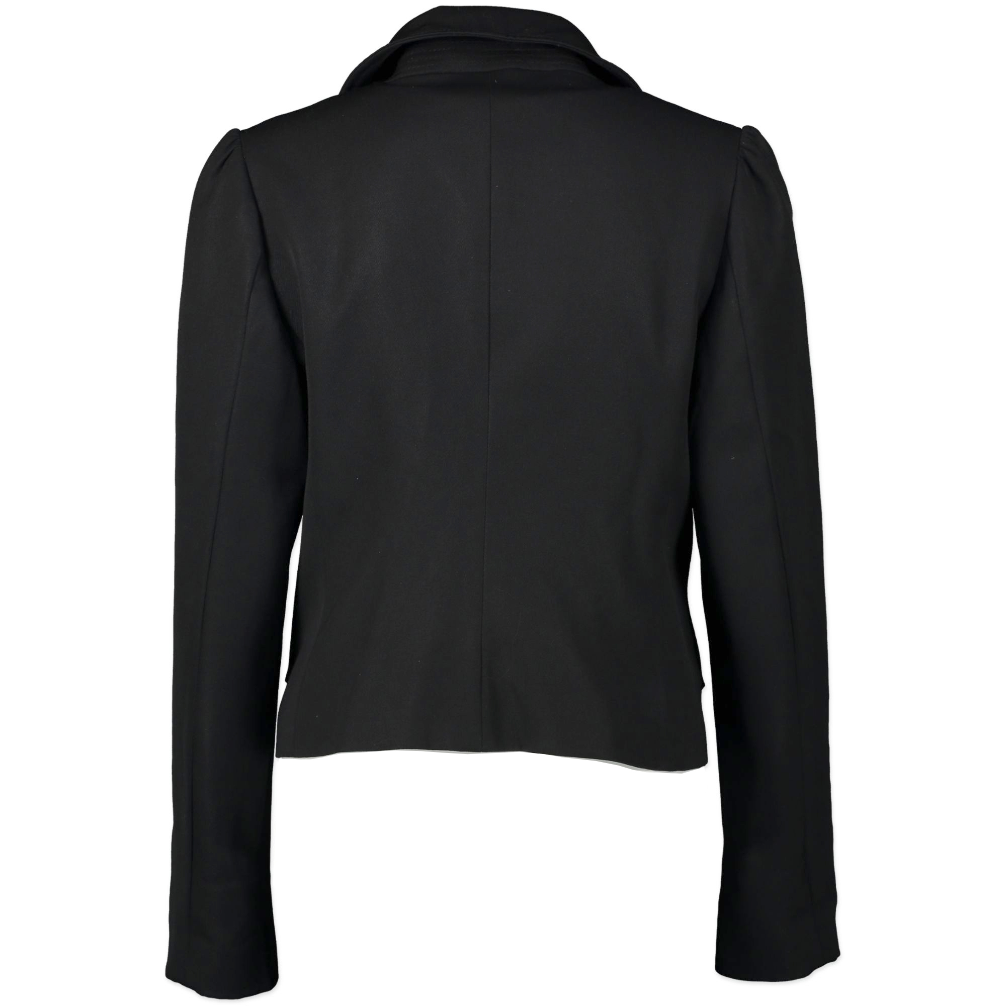 Burberry Cropped Black Trench Jacket - Size 36