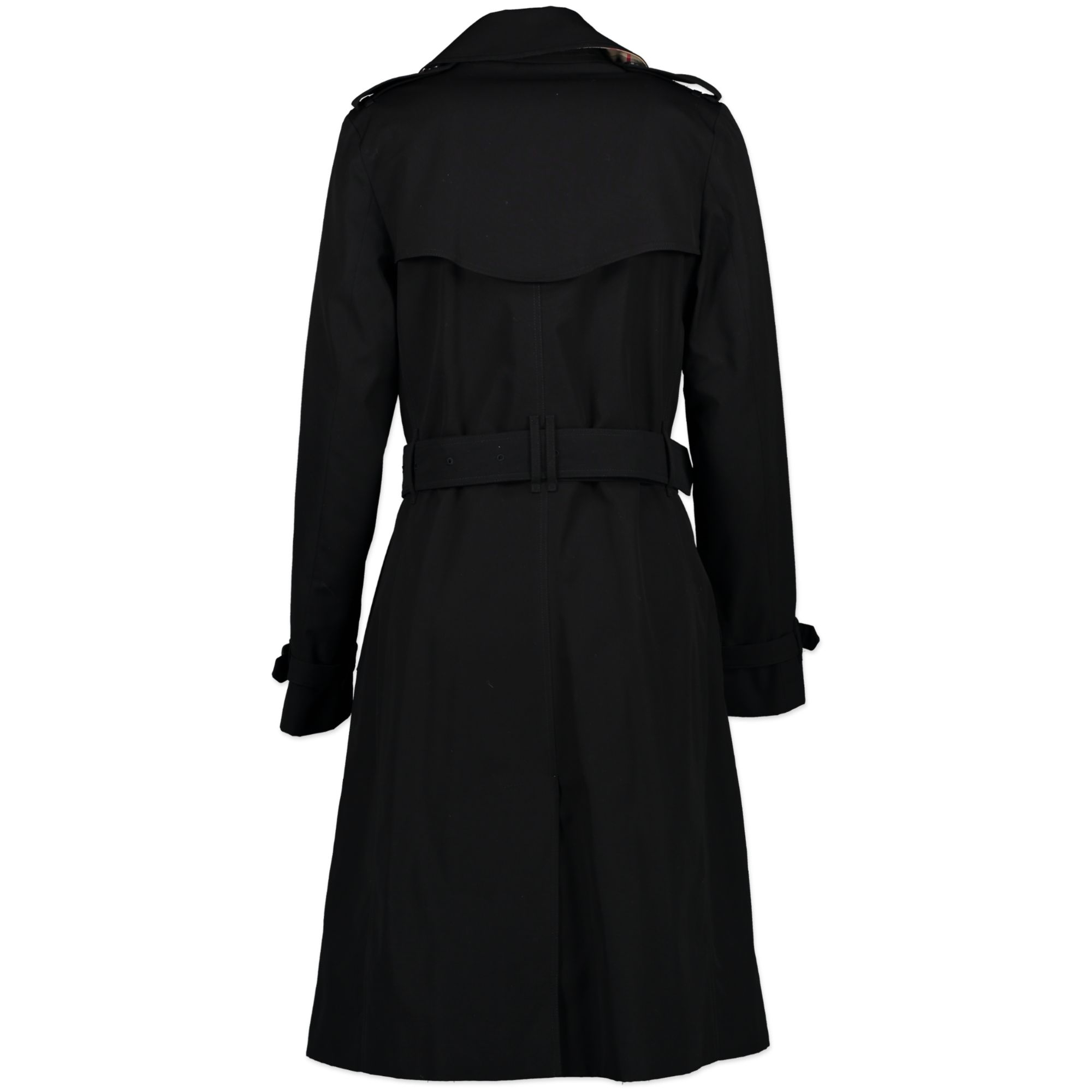 Burberry Black Trench Coat - size 36