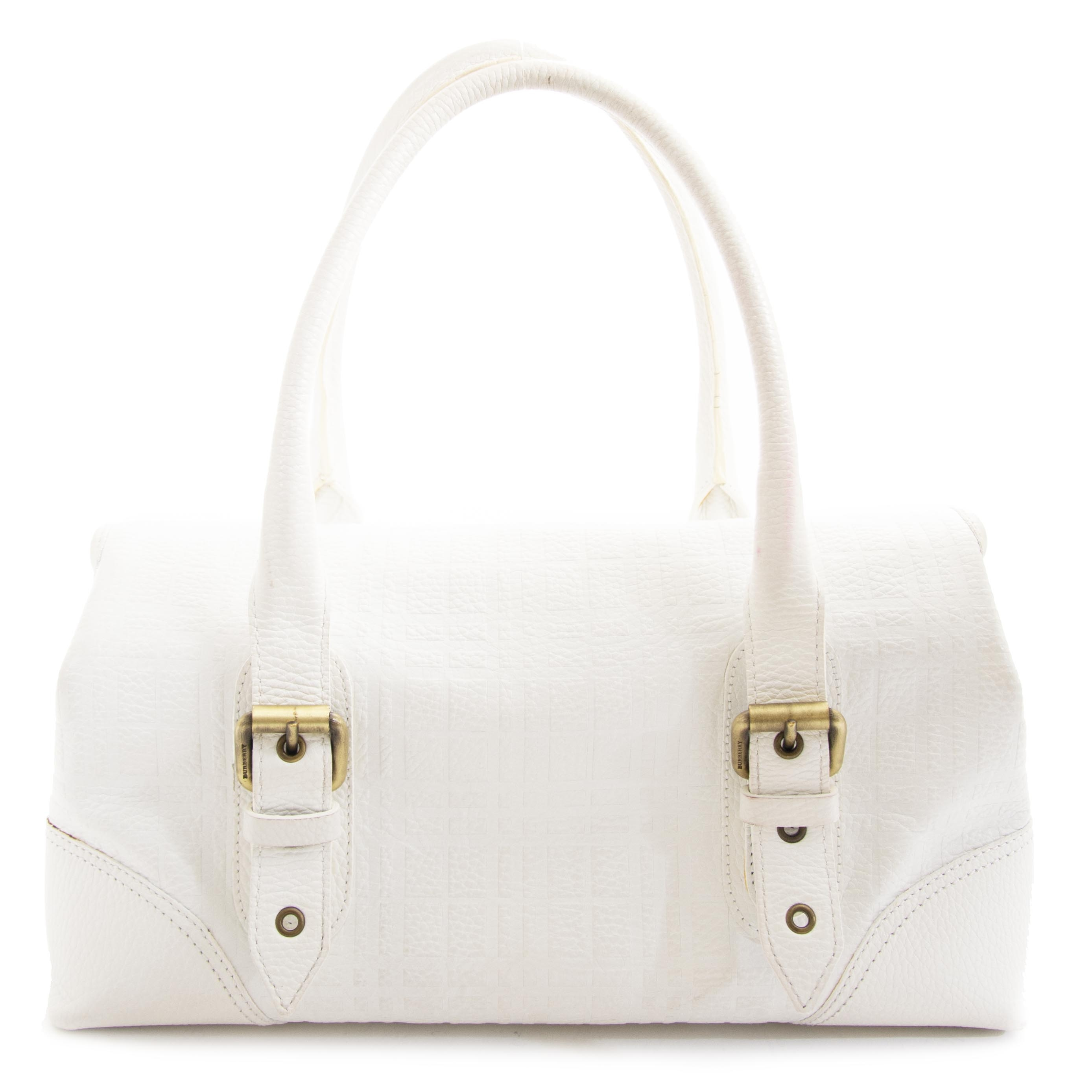 acheter en ligne seconde main Burberry White Shoulder Bag