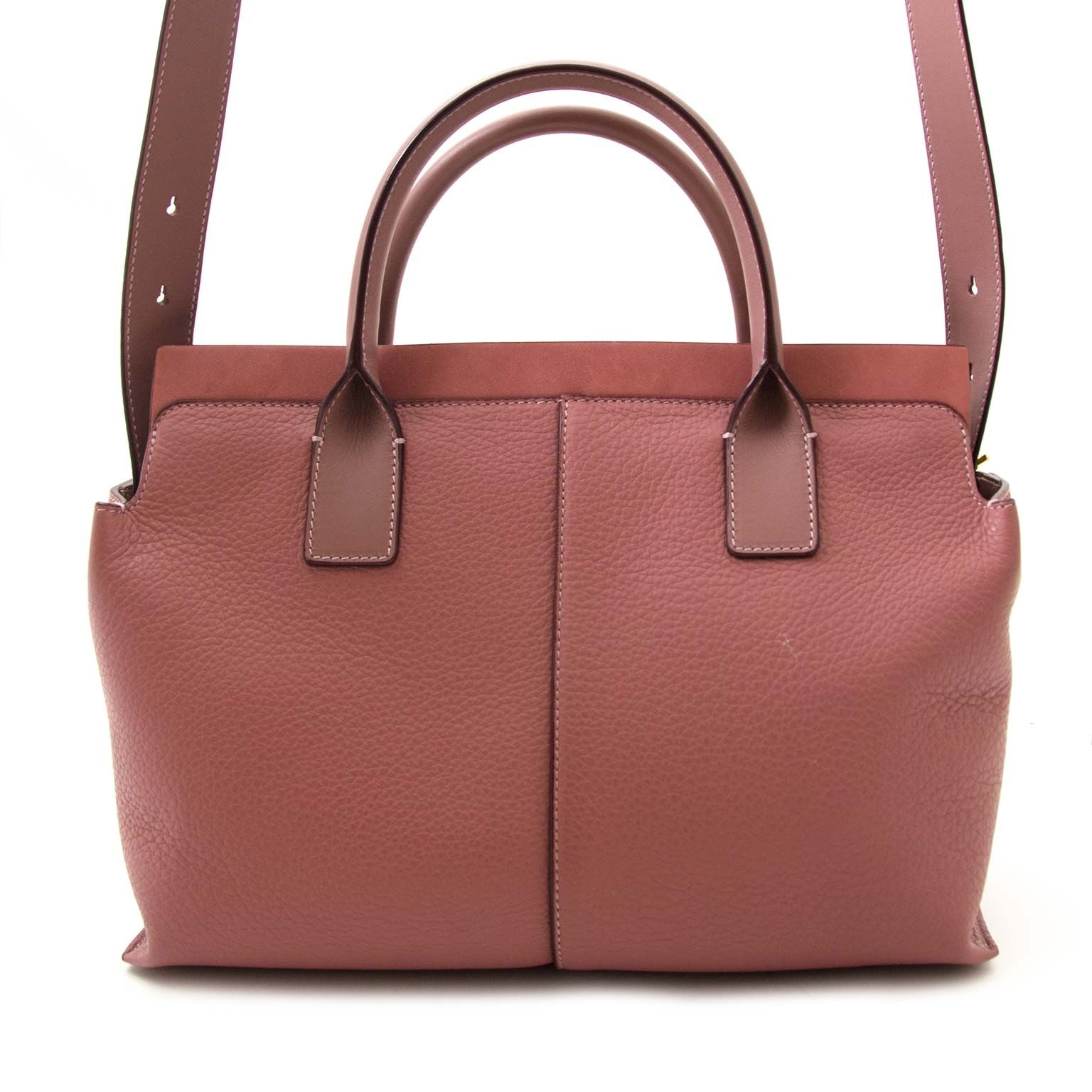 buy secondhand Chloe Pink Leather Cate Satchel Bag at labellov for a good price