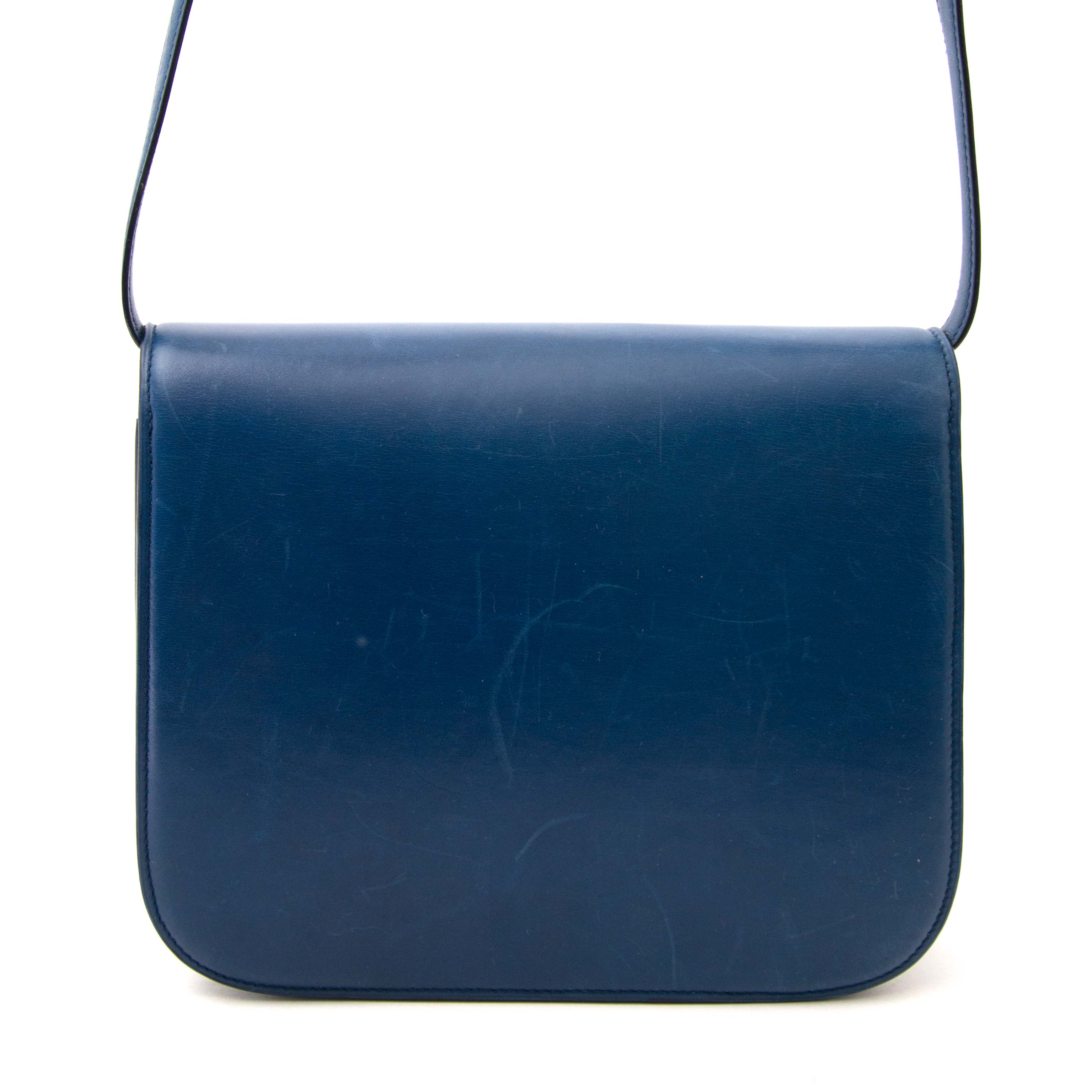 looking for a luxury secondhand bag ? Celine Petrol Blue Box Bag