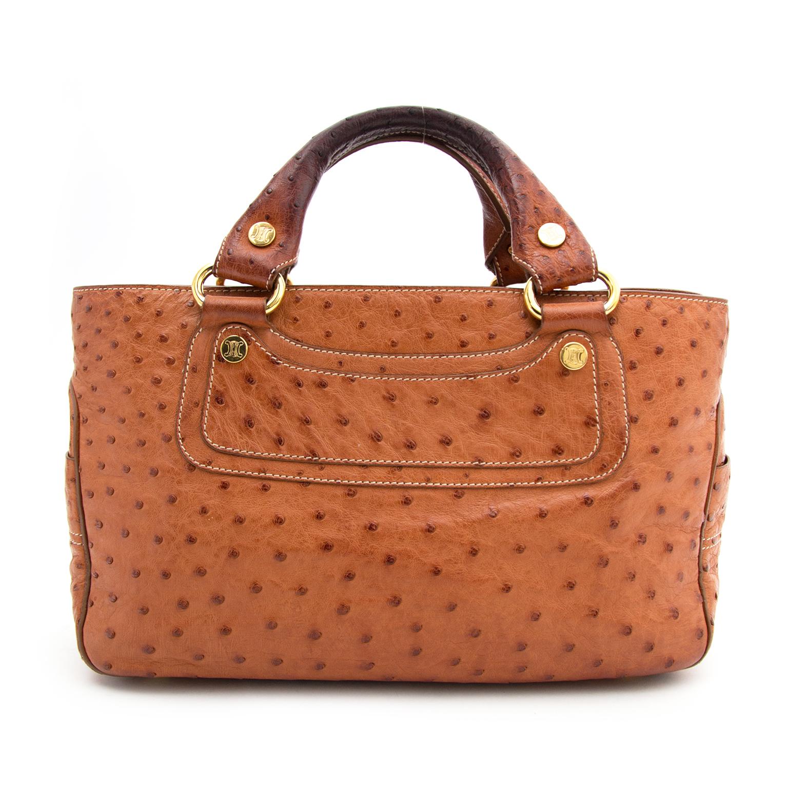 Acheter secur en ligne votre sac a mains en autruche Celine pour le meilleur prix