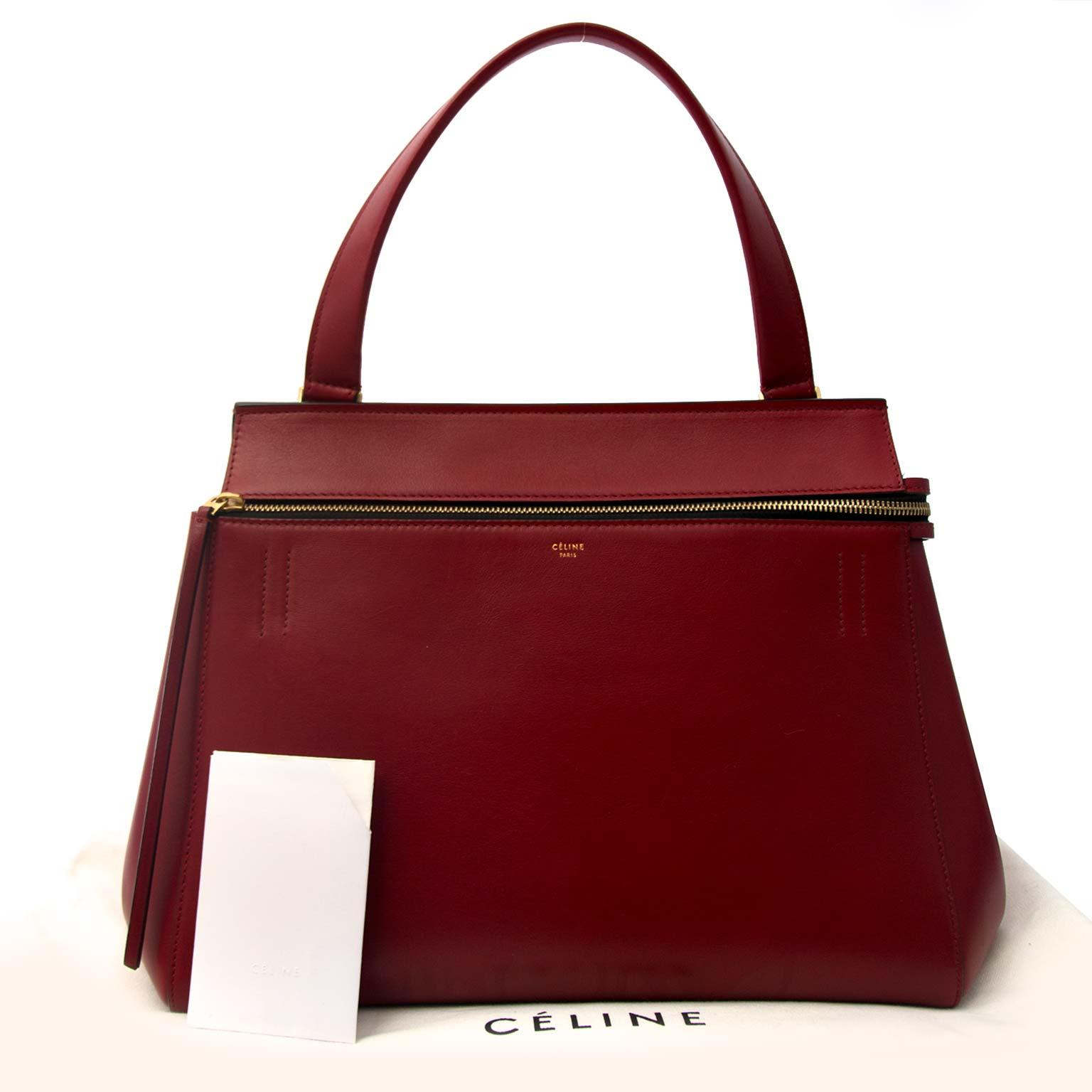 koop veiilg online tegen de beste prijs Celine Red Boxcalf Edge Bag