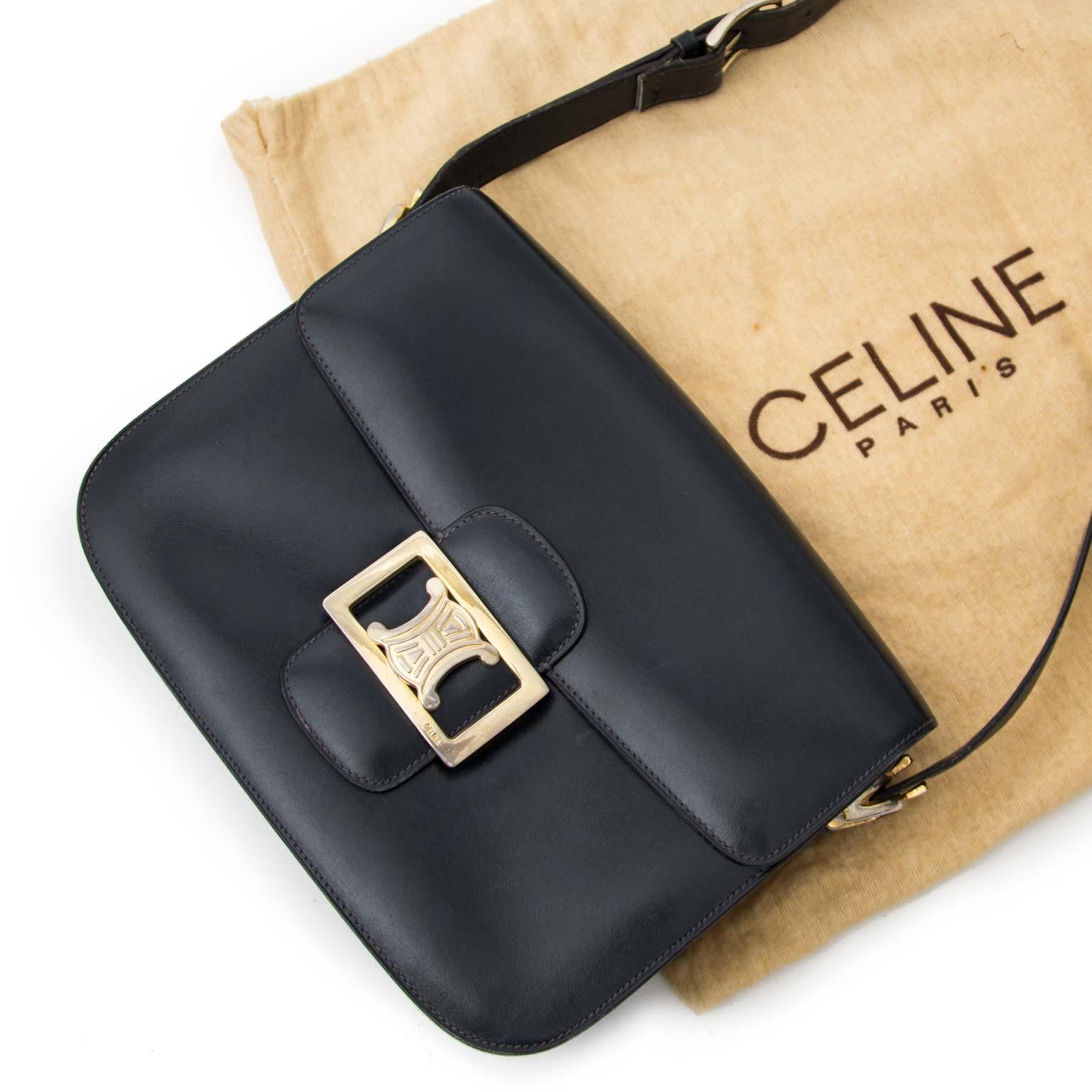9405774914 ... best price acheter en ligne chez labellov.com pour le meilleur prix  celine black vintage box bag