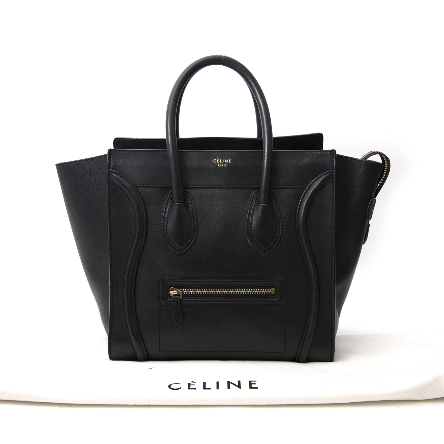 100% authentic Céline Black Luggage Handbag for the best price at Labellov  Looking for your next designer splurge  Get the best deals on Labellov  secondhand ... fed8434618277