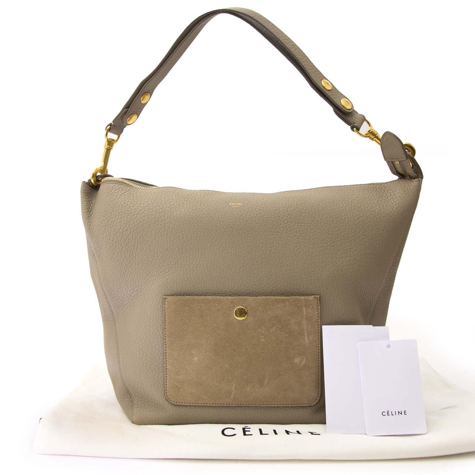 koop online tegen de beste prijs Chloe Taupe Medium Zipped Hobo