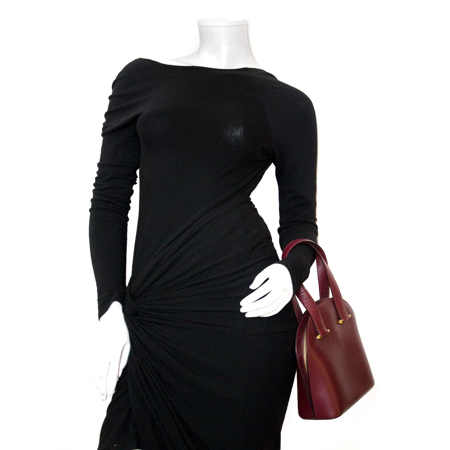 Koop authentieke must de cartier bordeaux tassen bij labellov vintage mode webshop belgië