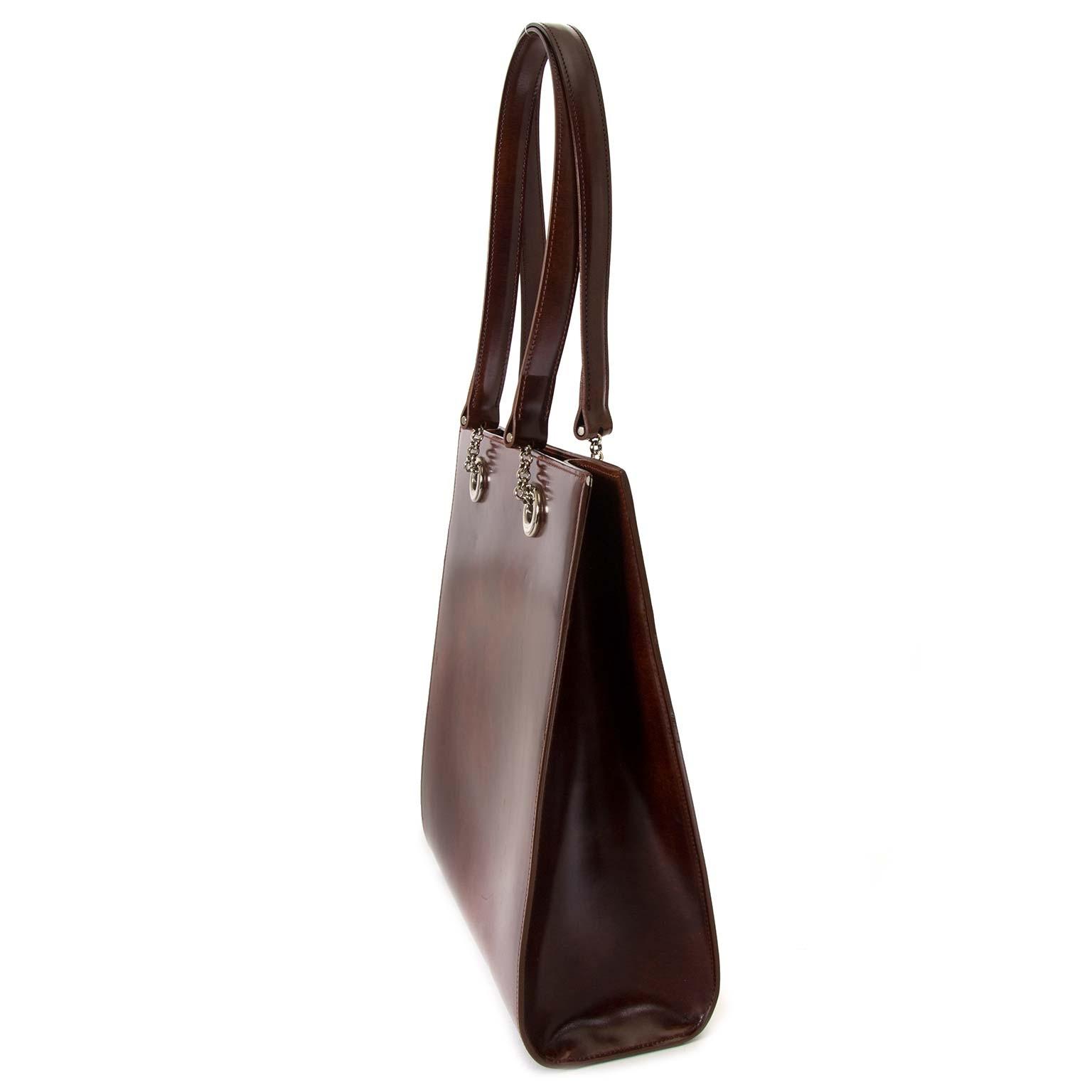 Cartier Brown Shoulder Bag now for sale at labellov vintage fashion webshop belgium