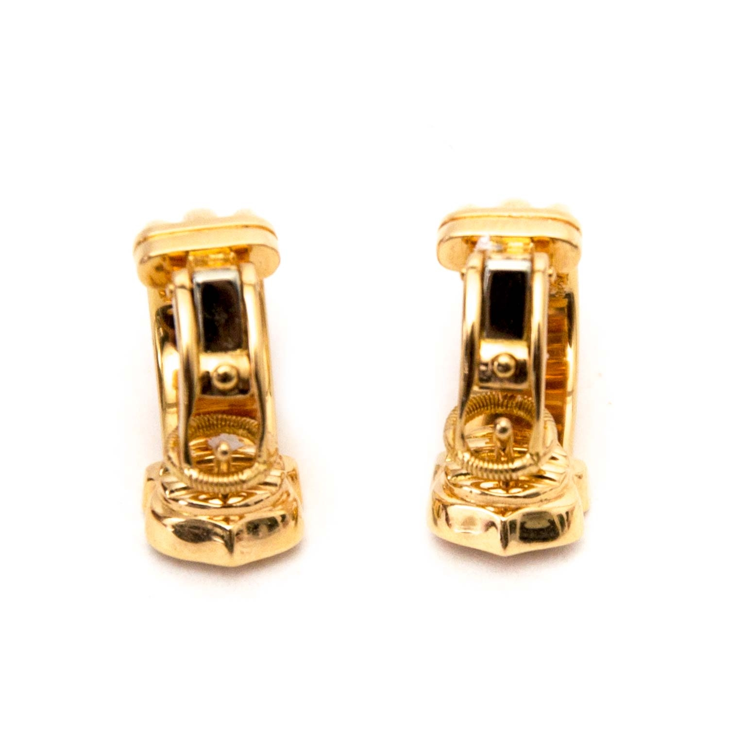 buy secondhand authentic Cartier Limited Edition Ressort CC Earrings for less at Labellov, online vintage webshop