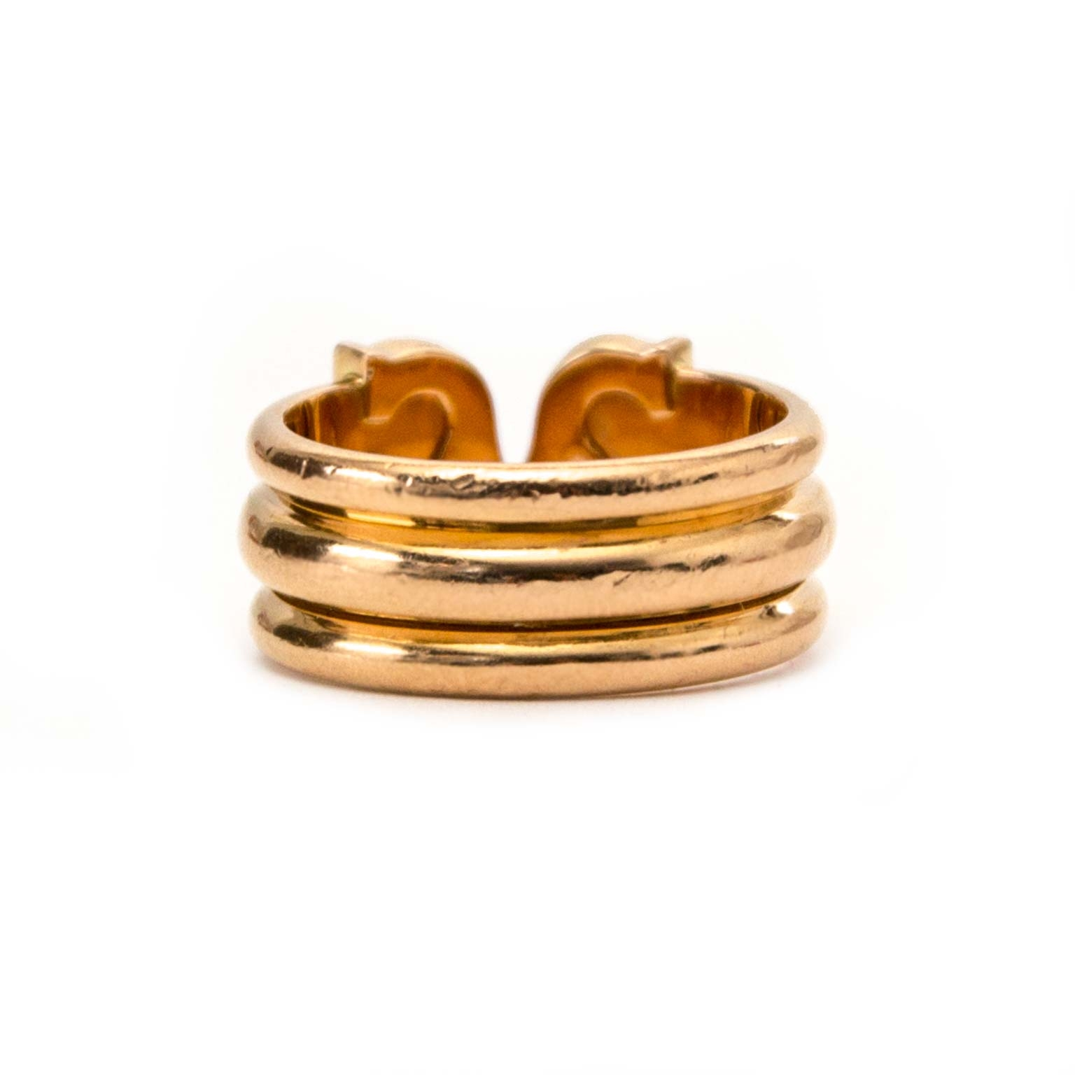 buy secondhand authentic Cartier Limited Edition Ressort CC Rosé Gold Diamond Ring for less at Labellov, vintage webshop
