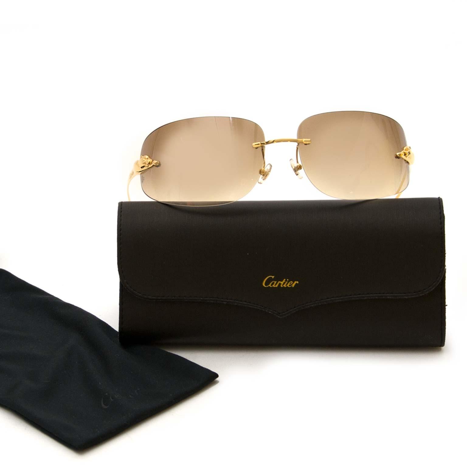 Authentic Panthère De Cartier sunglasses now at Labellov vintage webshop