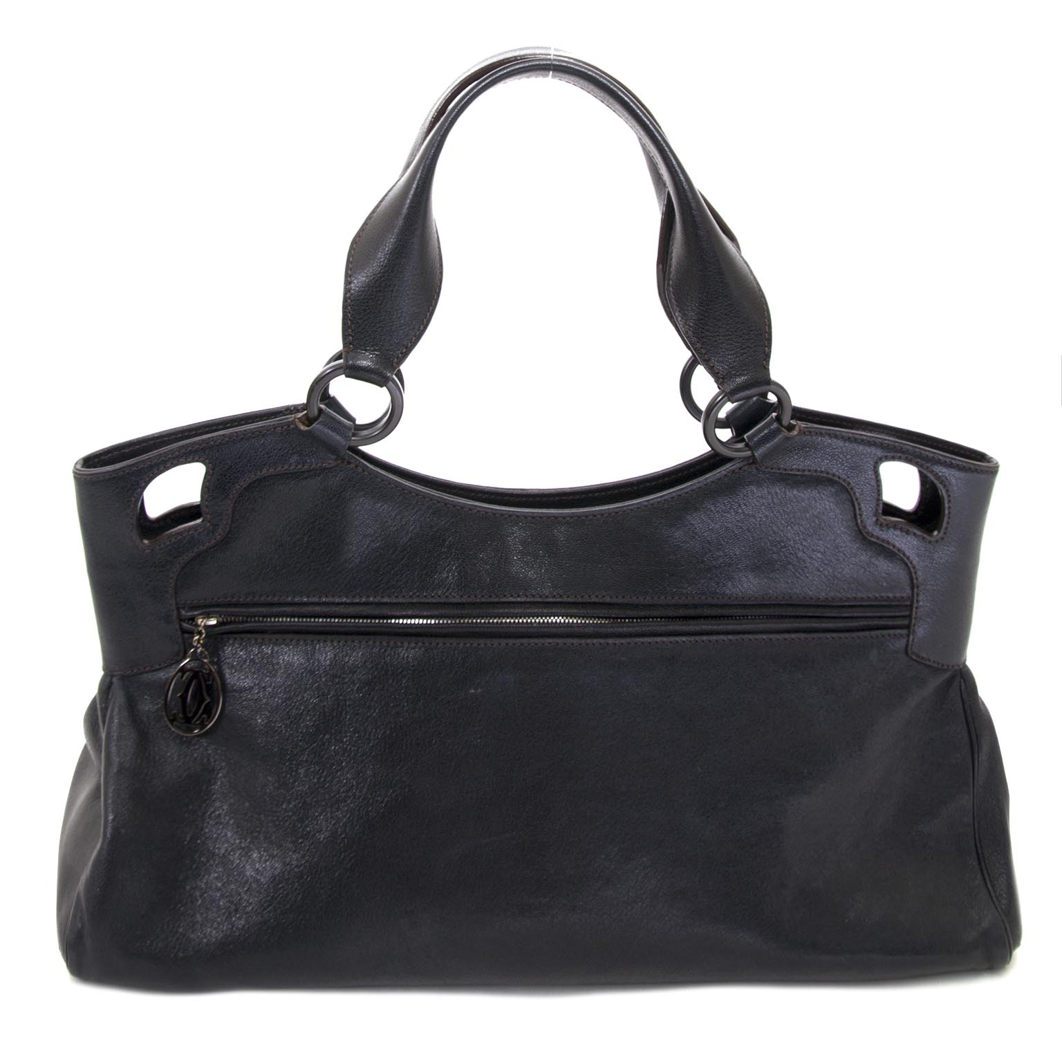 ... buy Cartier Blue Leather Marcello Handbag at labellov for the best price 65f56e4a6ca51