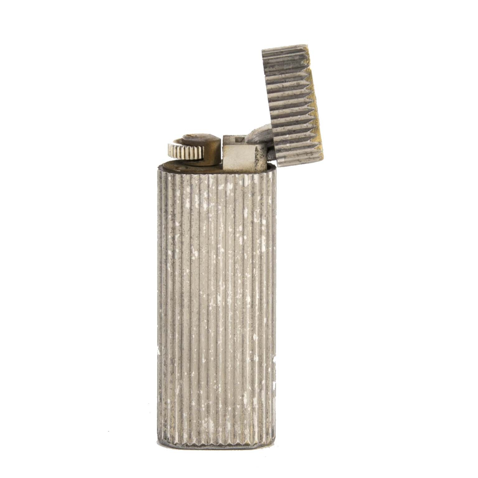 buy Cartier Silver Striped Lighter at labellov for the best price