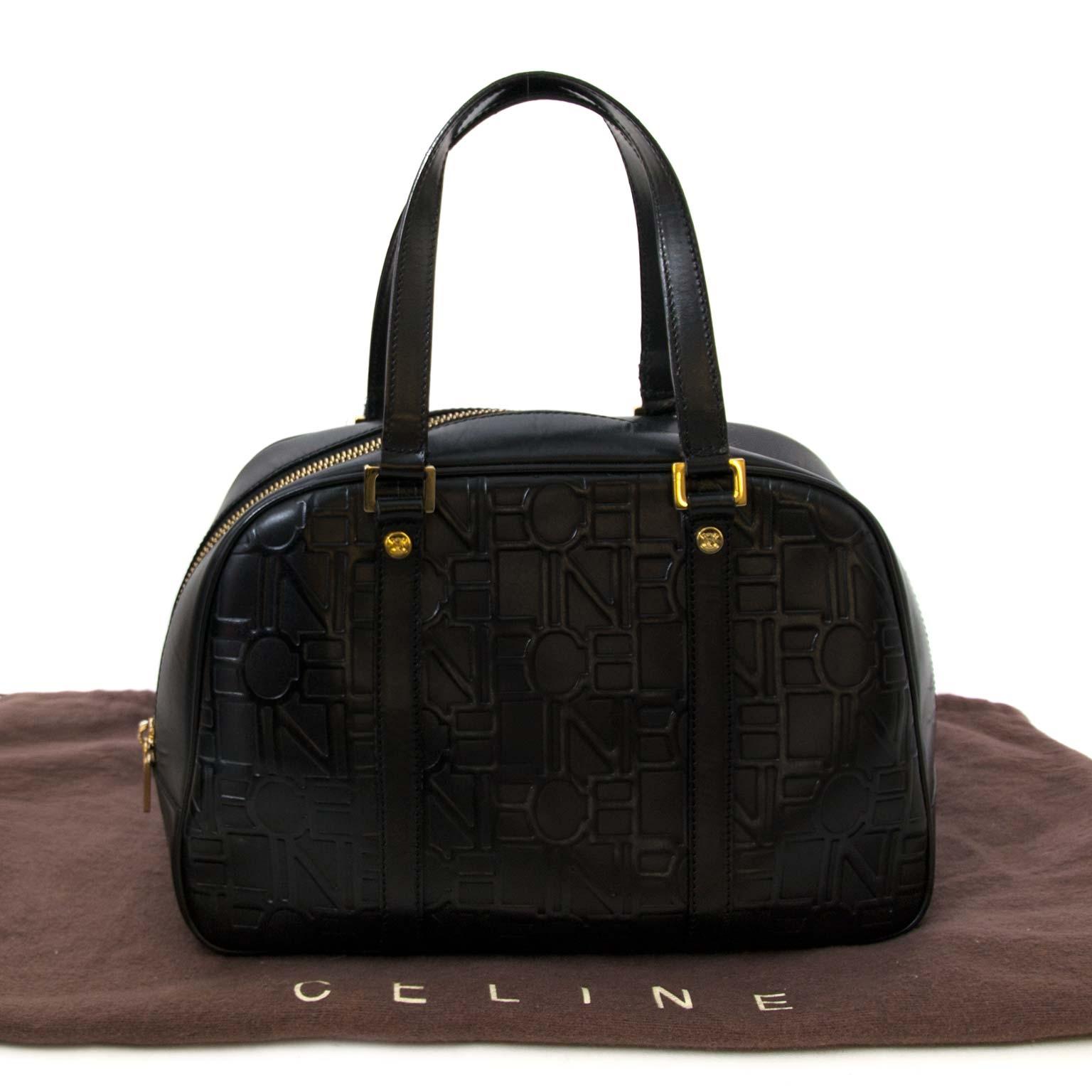 koop veilig online tegen de beste prijs Celine Black Top Handle