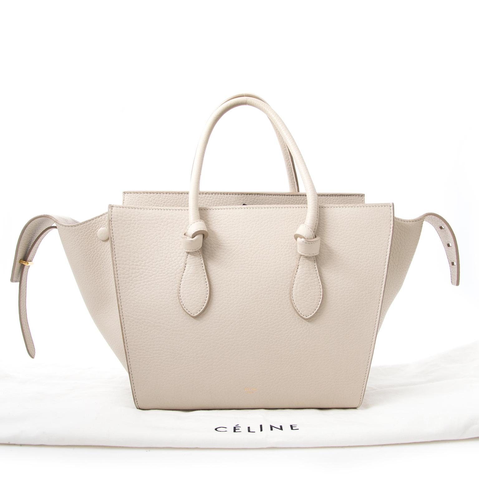 céline beige tie tas nu online bij labellov.com tegen de beste prijs