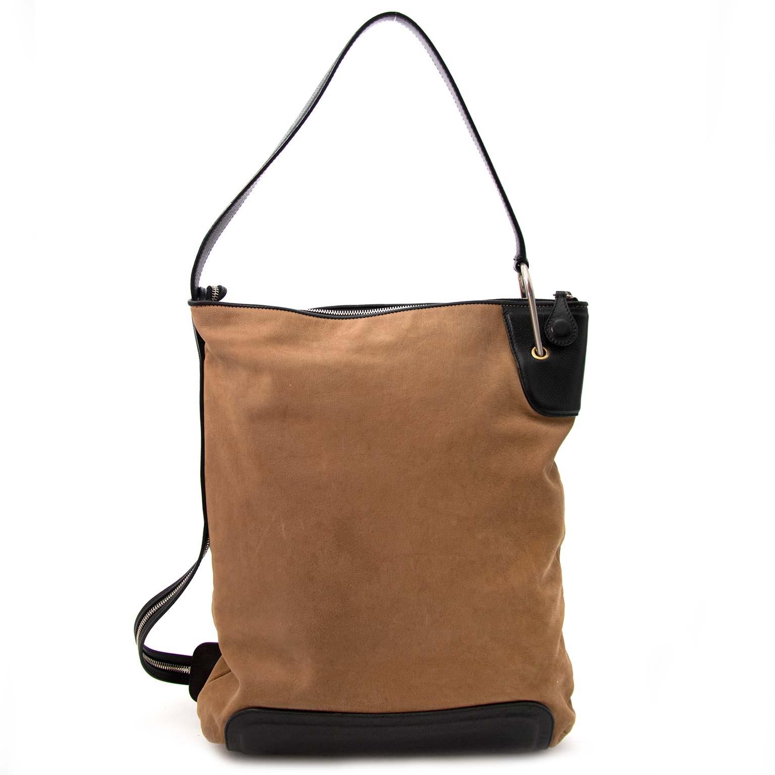 acheter en ligne pour le meilleur prix Celine Brown Cabas Black Bottom Shoulder Bag