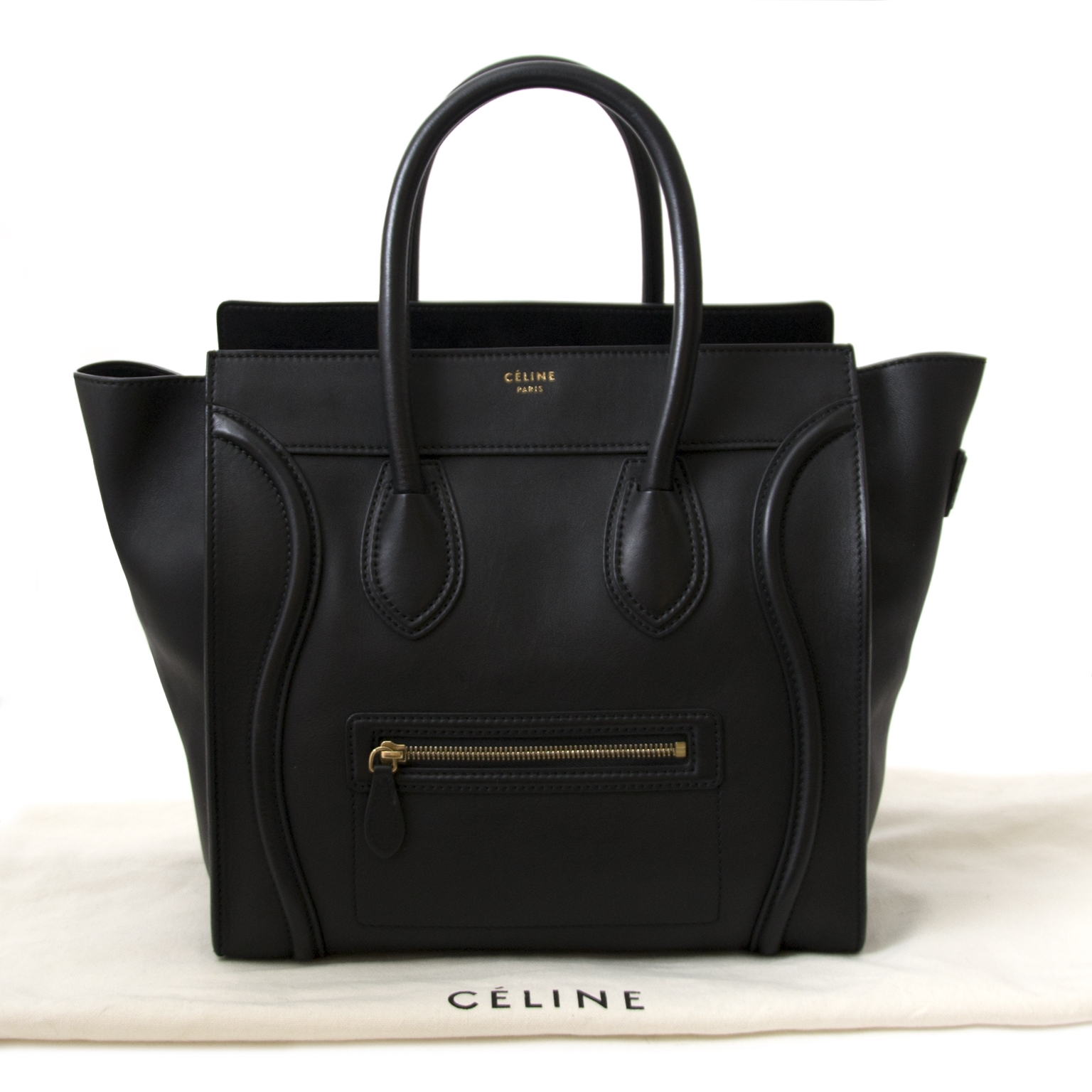 Céline Black Mini Luggage Bag for sale online at Labellov secondhand in Antwerp