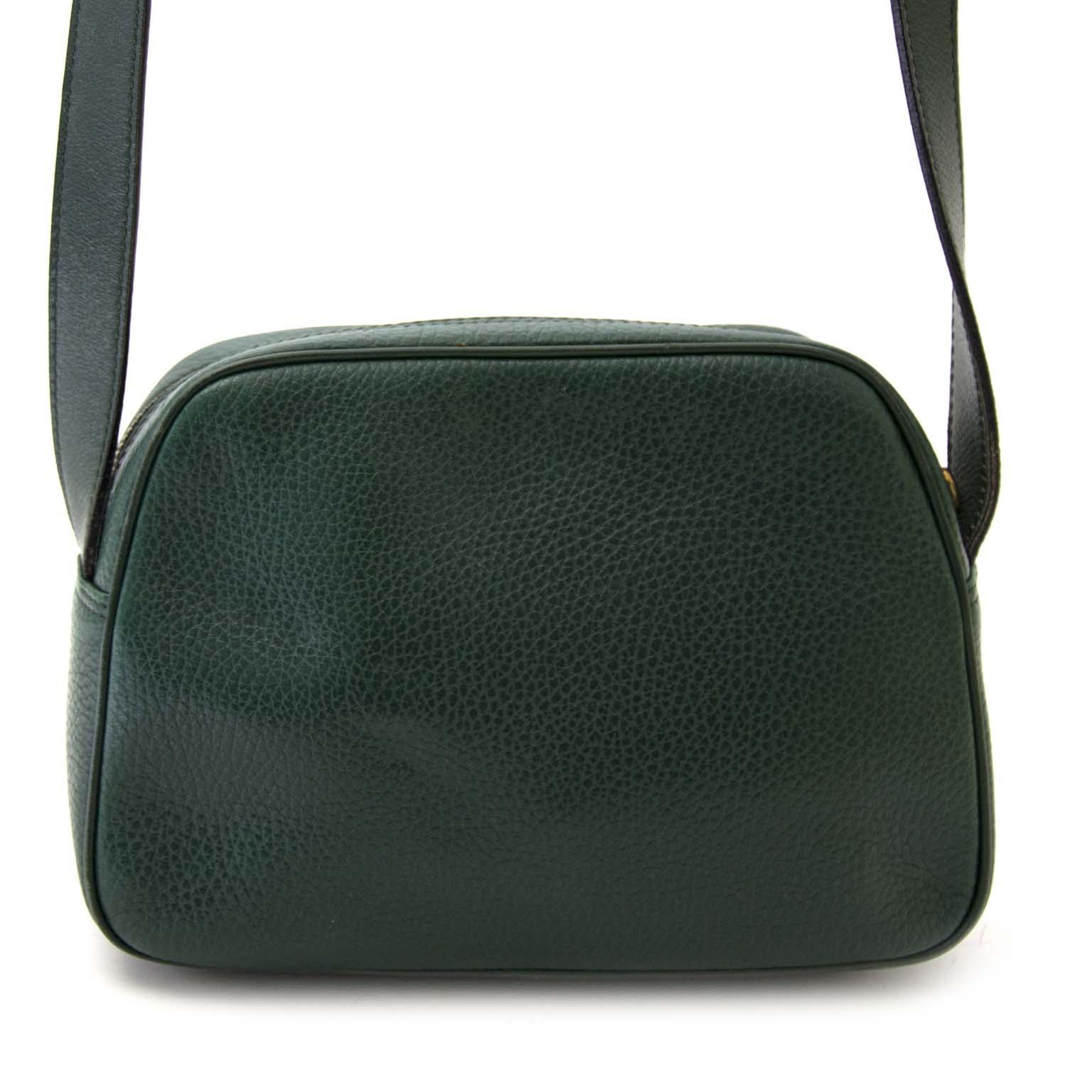 koop veilig online aan de beste prijs Céline Green Leather Crossbody Bag
