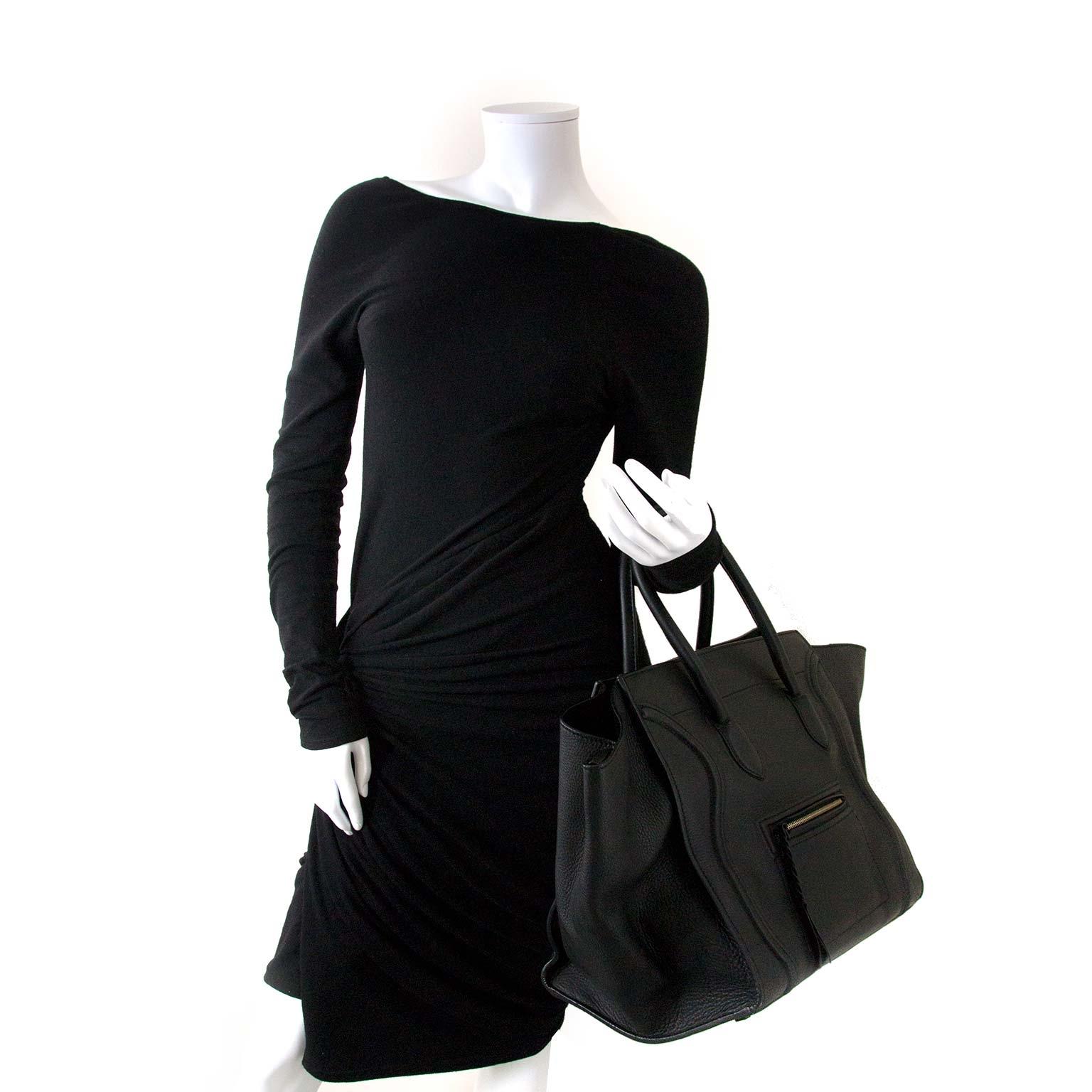 buy Céline Black leather Phantom Handbag at labellov for the best price