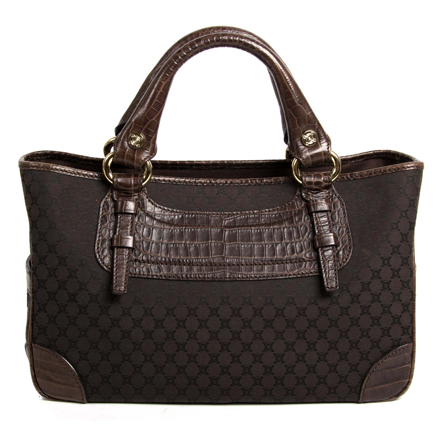 céline brown monogram boogie bag now for sale at labellov vintage fashion webshop belgium