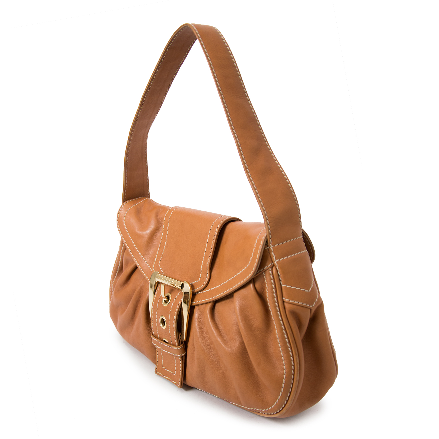 Buy safe and secure online at labellov.com for the best price celine brown shoulder bag