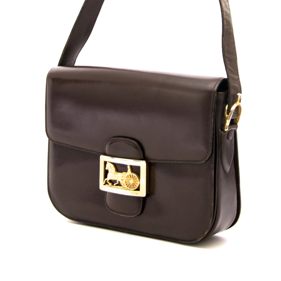 Looking for a Céline Vintage Brown Horse Box Bag ? Buy yours onlineCéline Vintage Brown Horse Box Bag