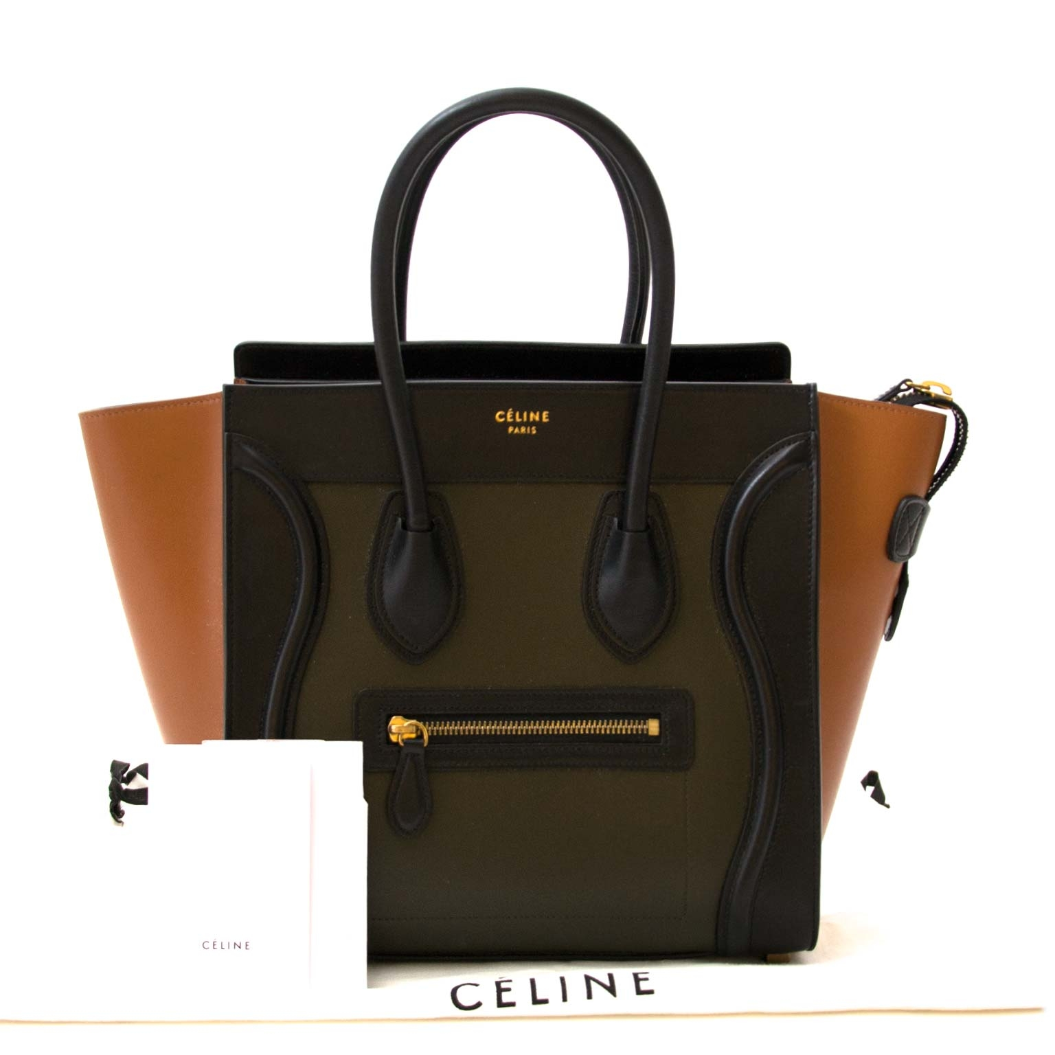 skip the waitinglist shop your Celine Tricolor Smooth Calfskin Micro Luggage Bag  online