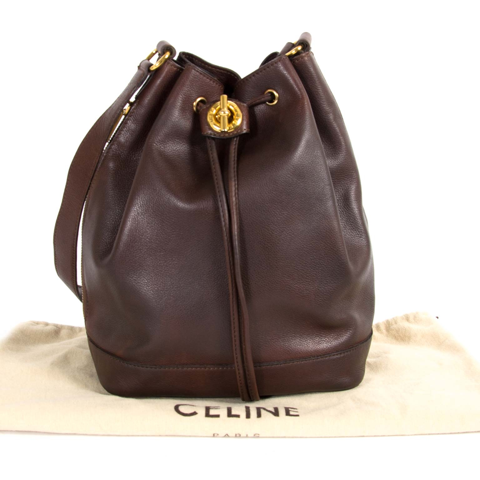 Celine Vintage Brown Bucket Bag veilig online aankopen tegen de beste prijs