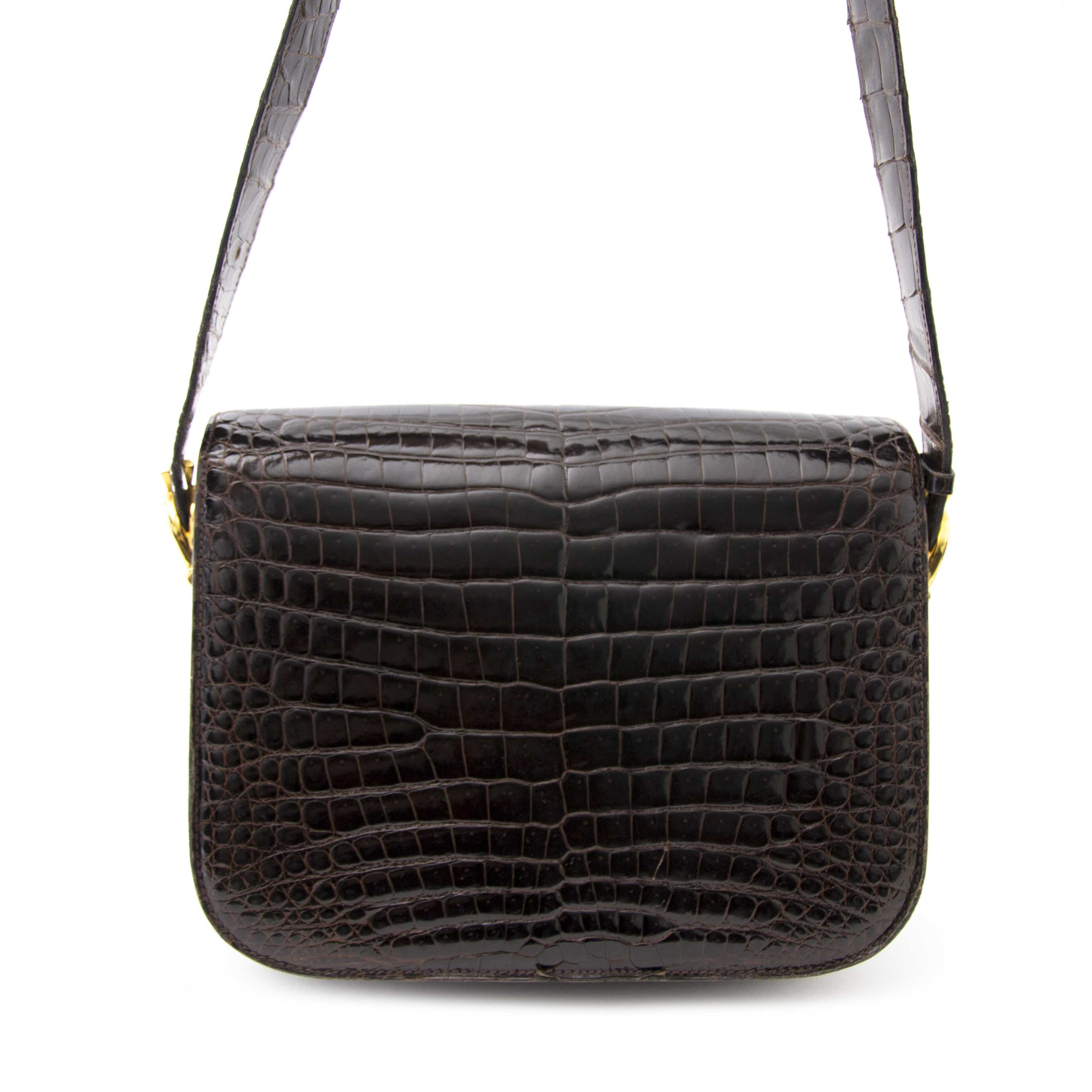 We buy and sell your authentic Céline Vintage Croco Horse Box Bag